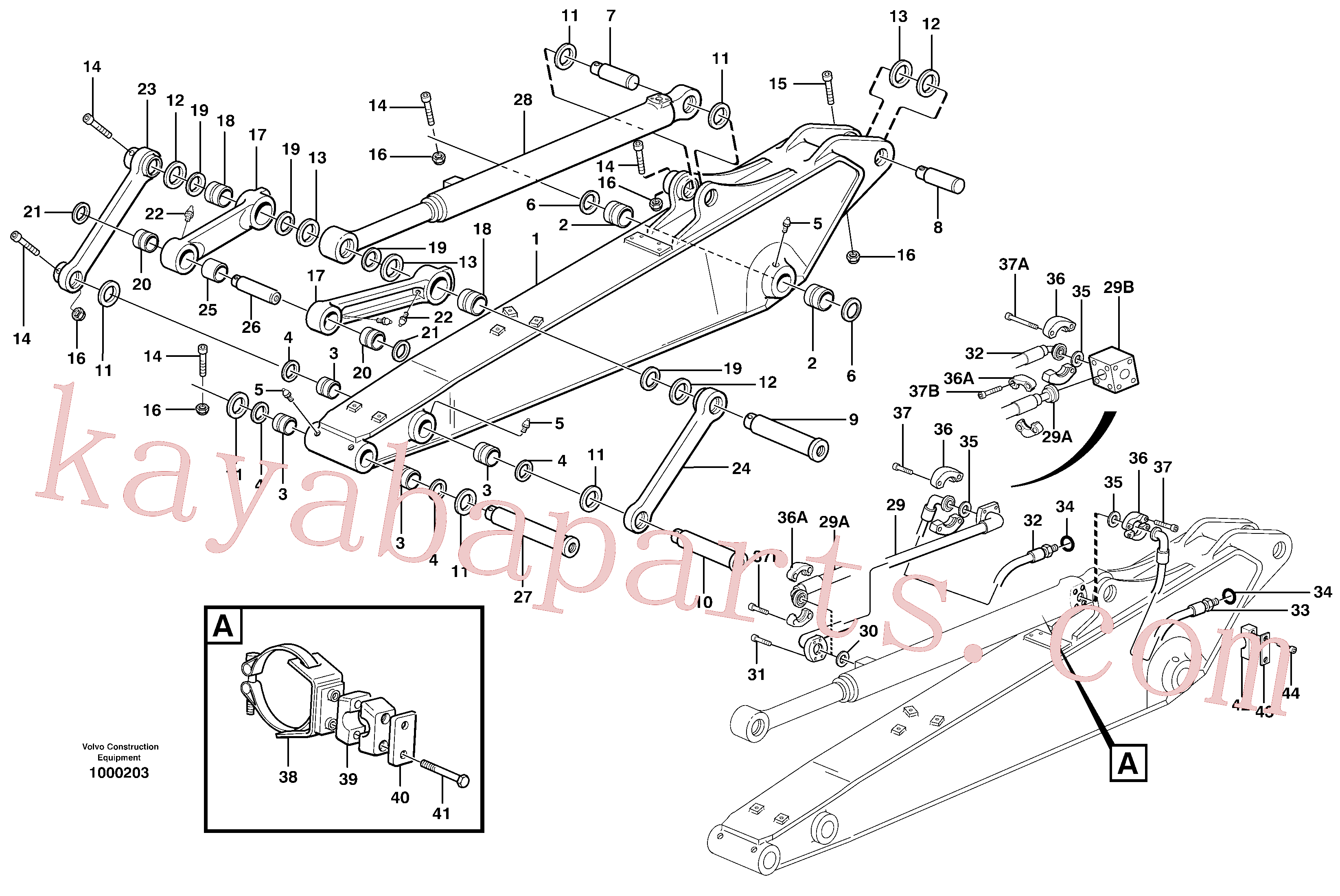 VOE14370066 for Volvo Dipper arm incl. connect.(1000203 assembly)