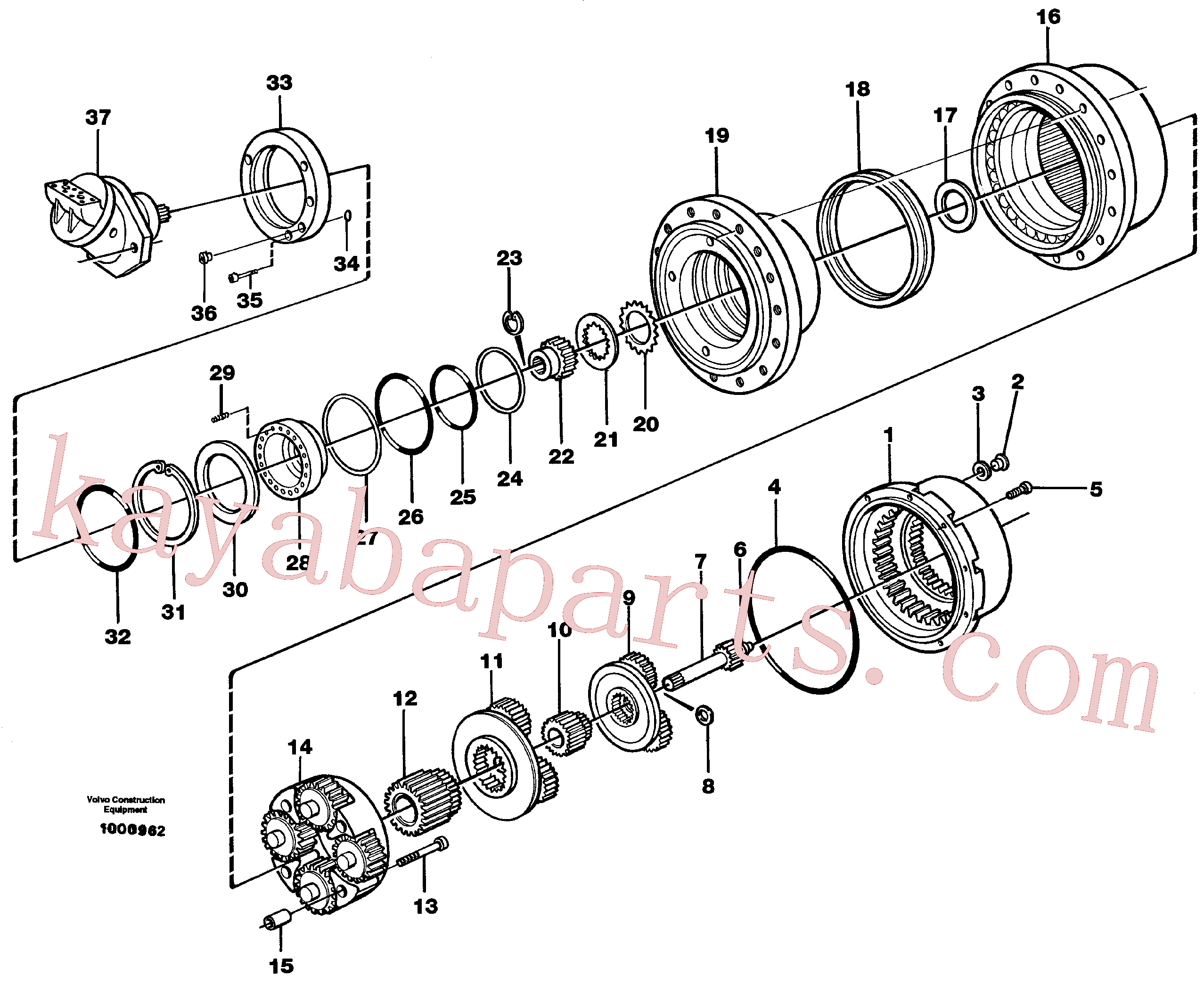 VOE11713105 for Volvo Planetary gear, travel(1000962 assembly)