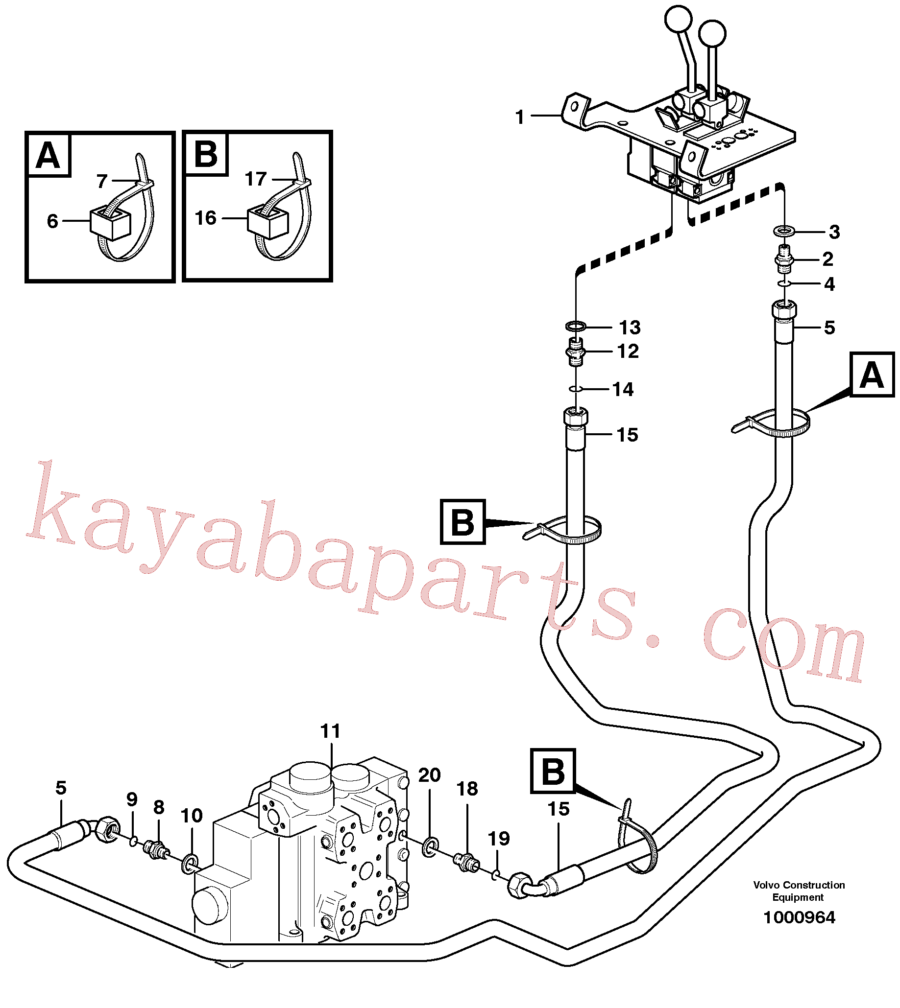 RM59929984 for Volvo Servo - hydraulic, control lines, lift(1000964 assembly)