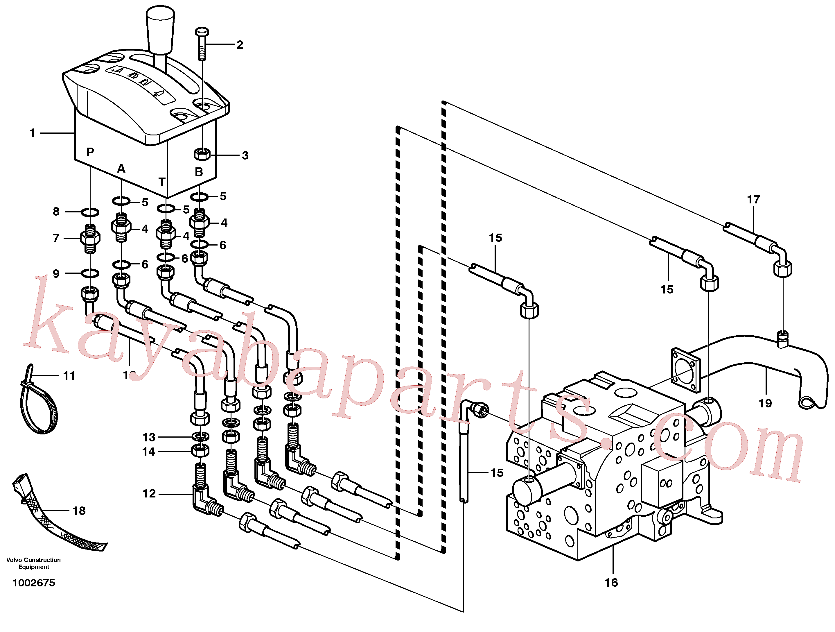 VOE945653 for Volvo Servo system, tipper control(1002675 assembly)