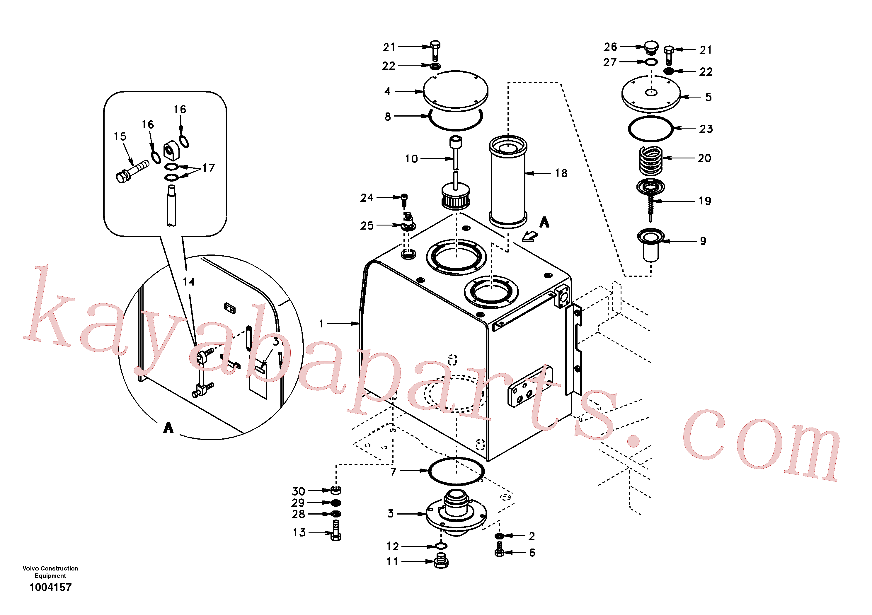 SA1141-02230 for Volvo Hydraulic oil tank(1004157 assembly)