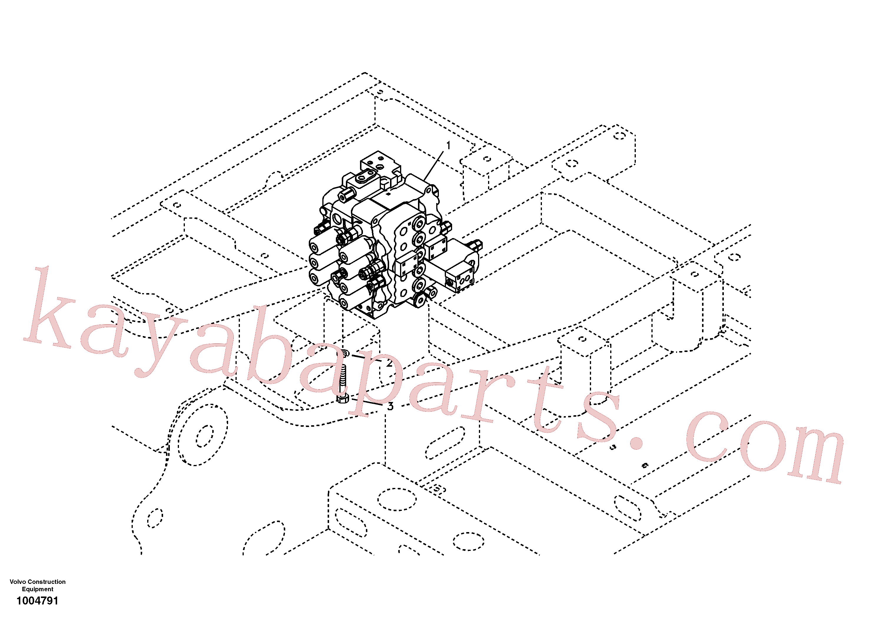 VOE14532821 for Volvo Control valve with fitting parts.(1004791 assembly)