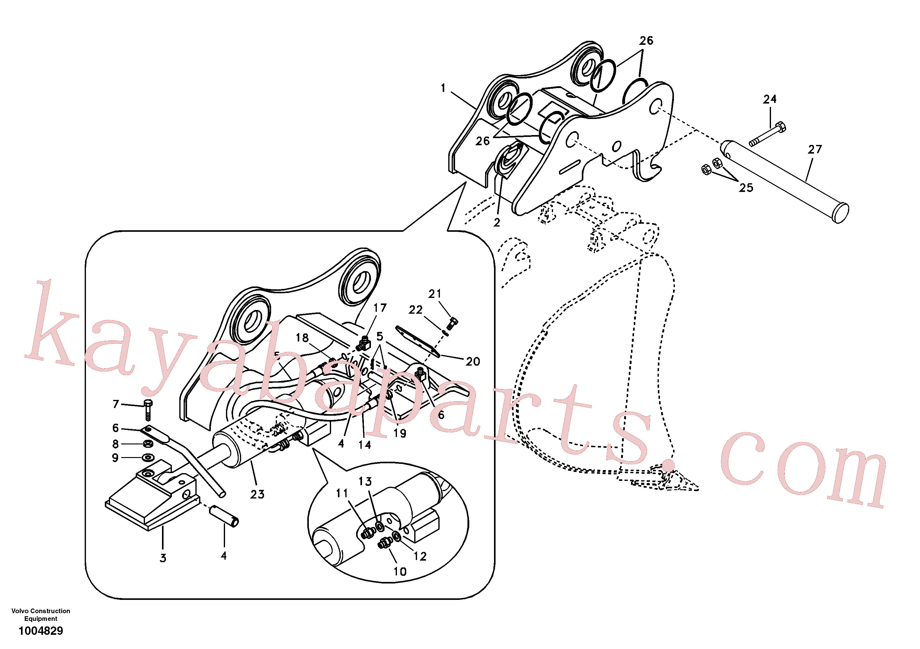 VOE14512705 for Volvo Attachment bracket, quickfit(1004829 assembly)