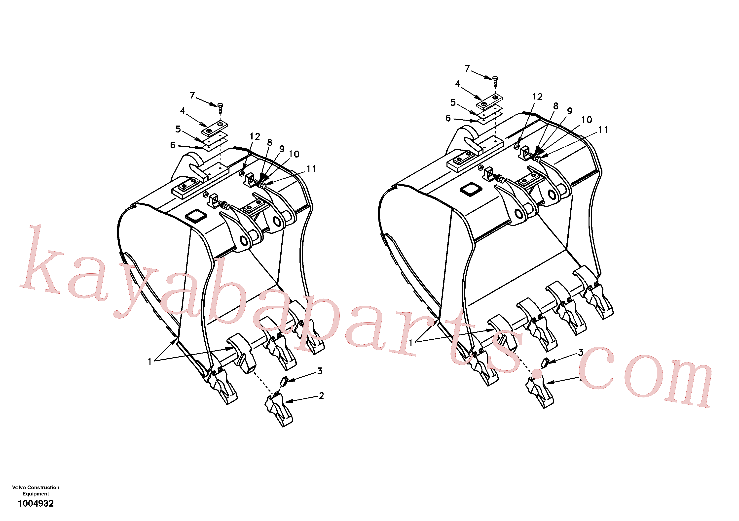 SA9011-12413 for Volvo Buckets for Quickfit(1004932 assembly)