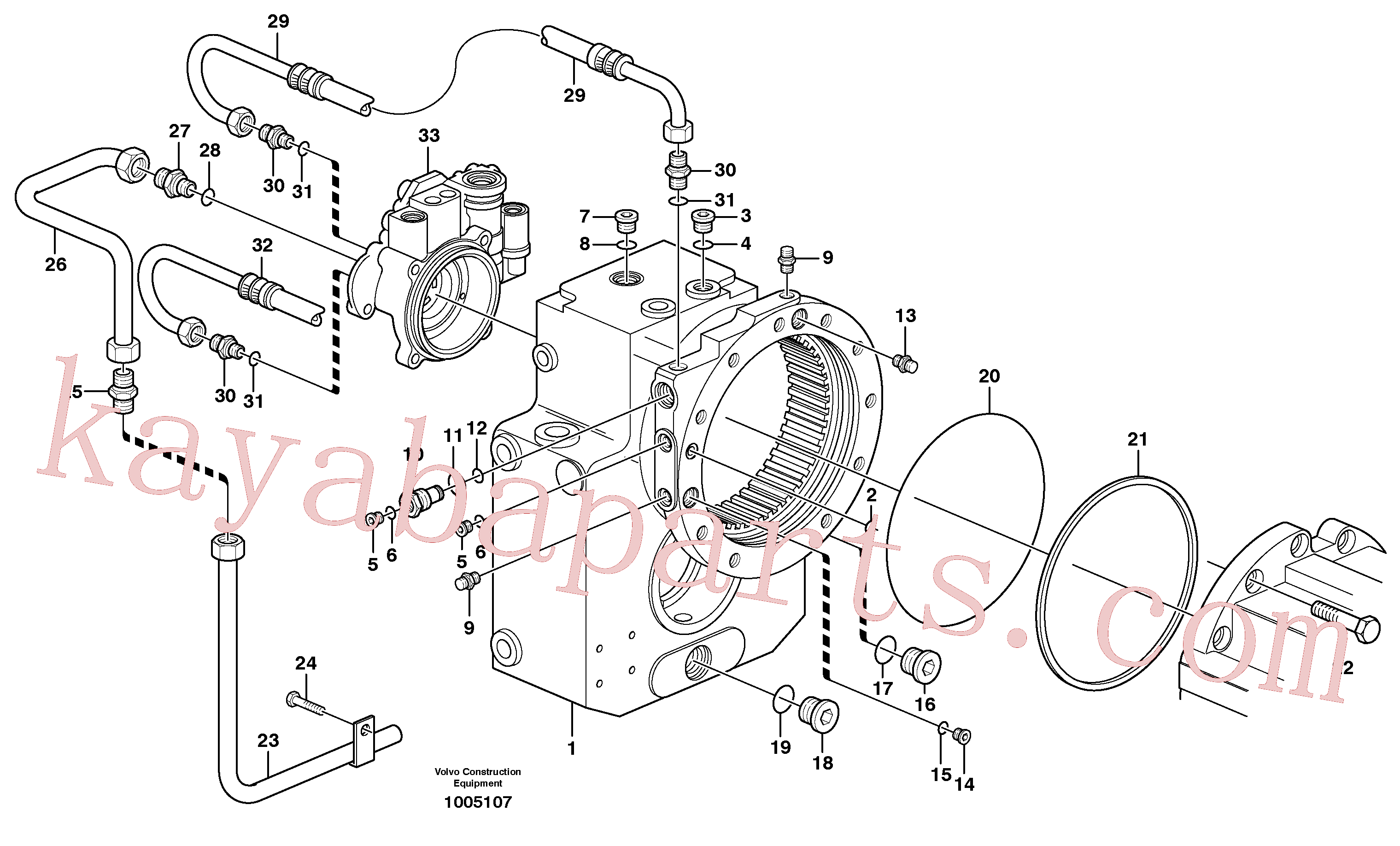VOE945065 for Volvo Transfer gear box(1005107 assembly)
