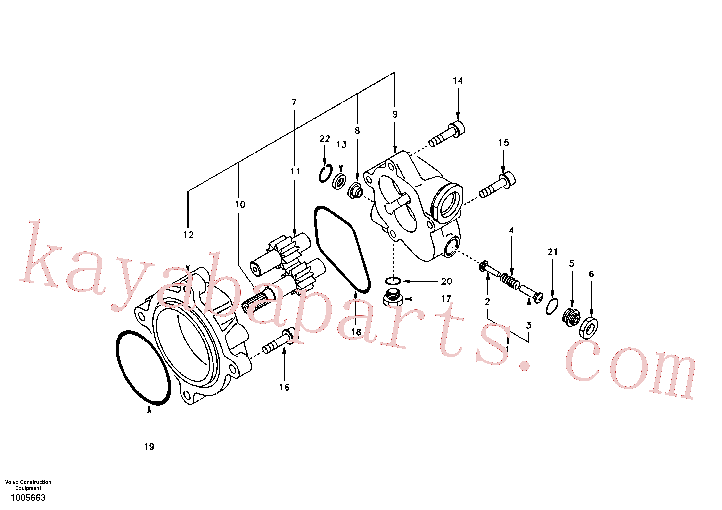 SA8220-09190 for Volvo Hydraulic gear pump(1005663 assembly)