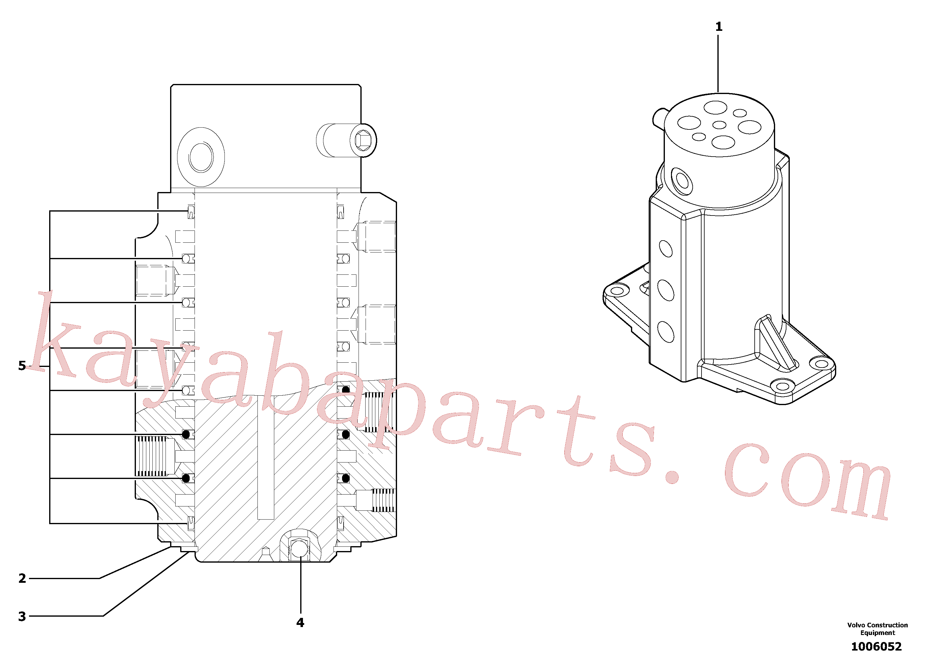 PJ7418485 for Volvo Swivel joint(1006052 assembly)
