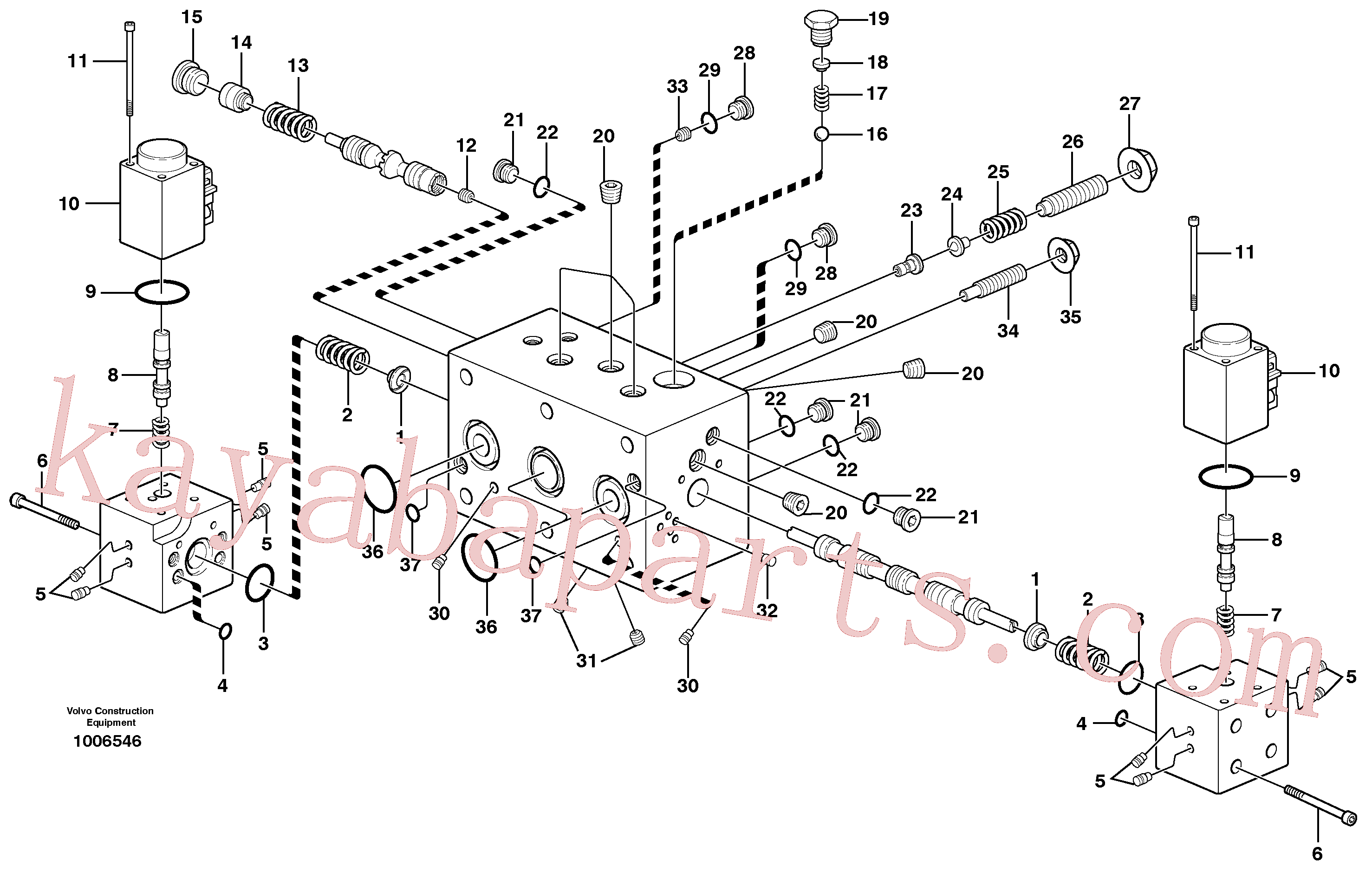 VOE11713994 for Volvo Hydraulic valve, X3(1006546 assembly)