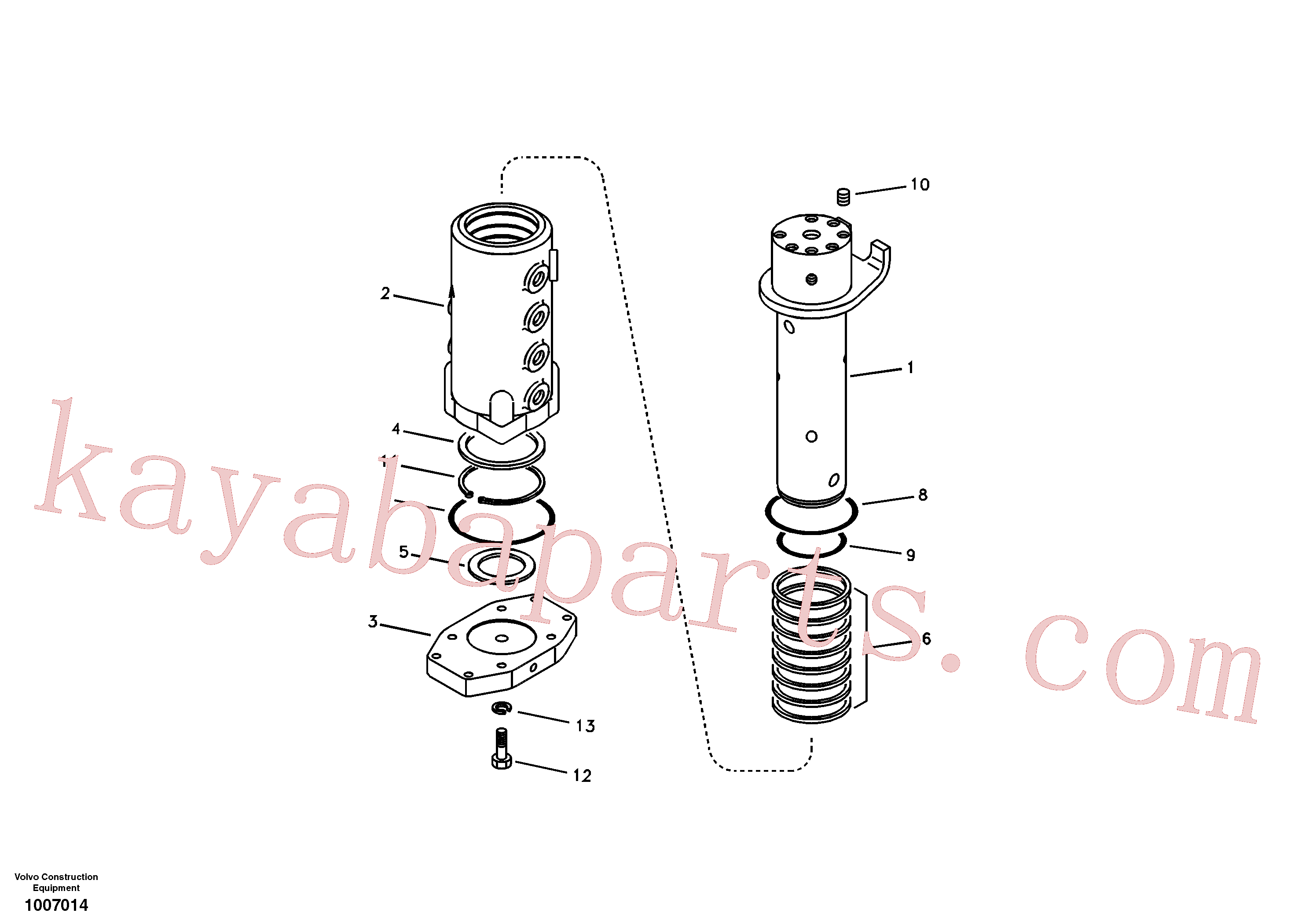 VOE990638 for Volvo Turning joint(1007014 assembly)