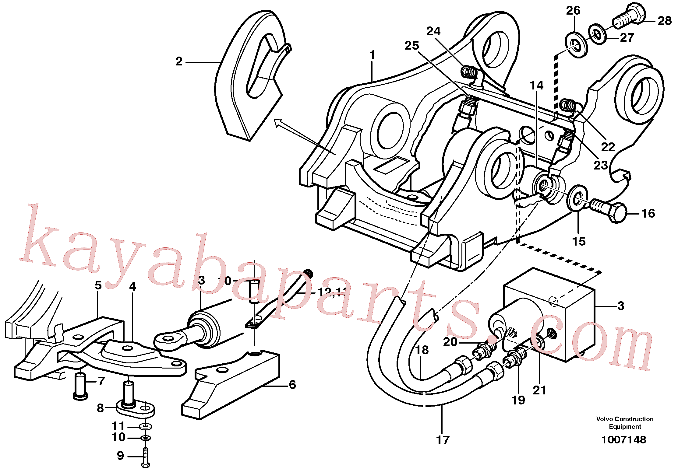 SA1171-75350 for Volvo Quickfit, hydraulic, S6(1007148 assembly)