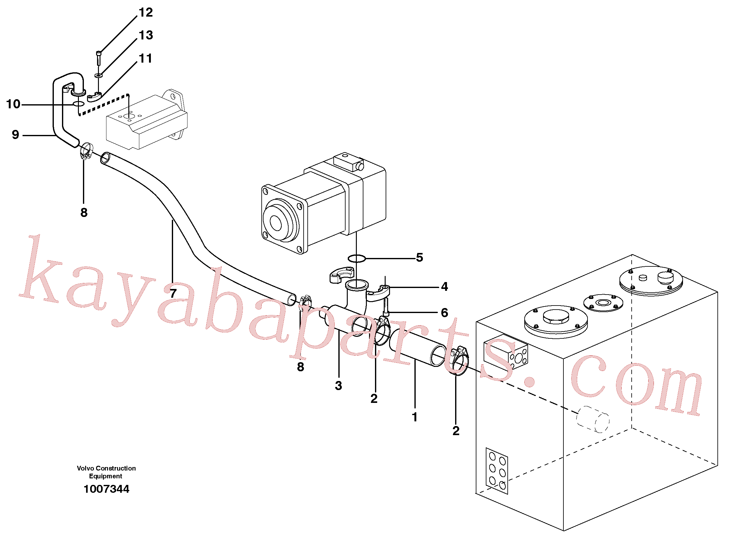 VOE993327 for Volvo Hydraulic system suction lines(1007344 assembly)