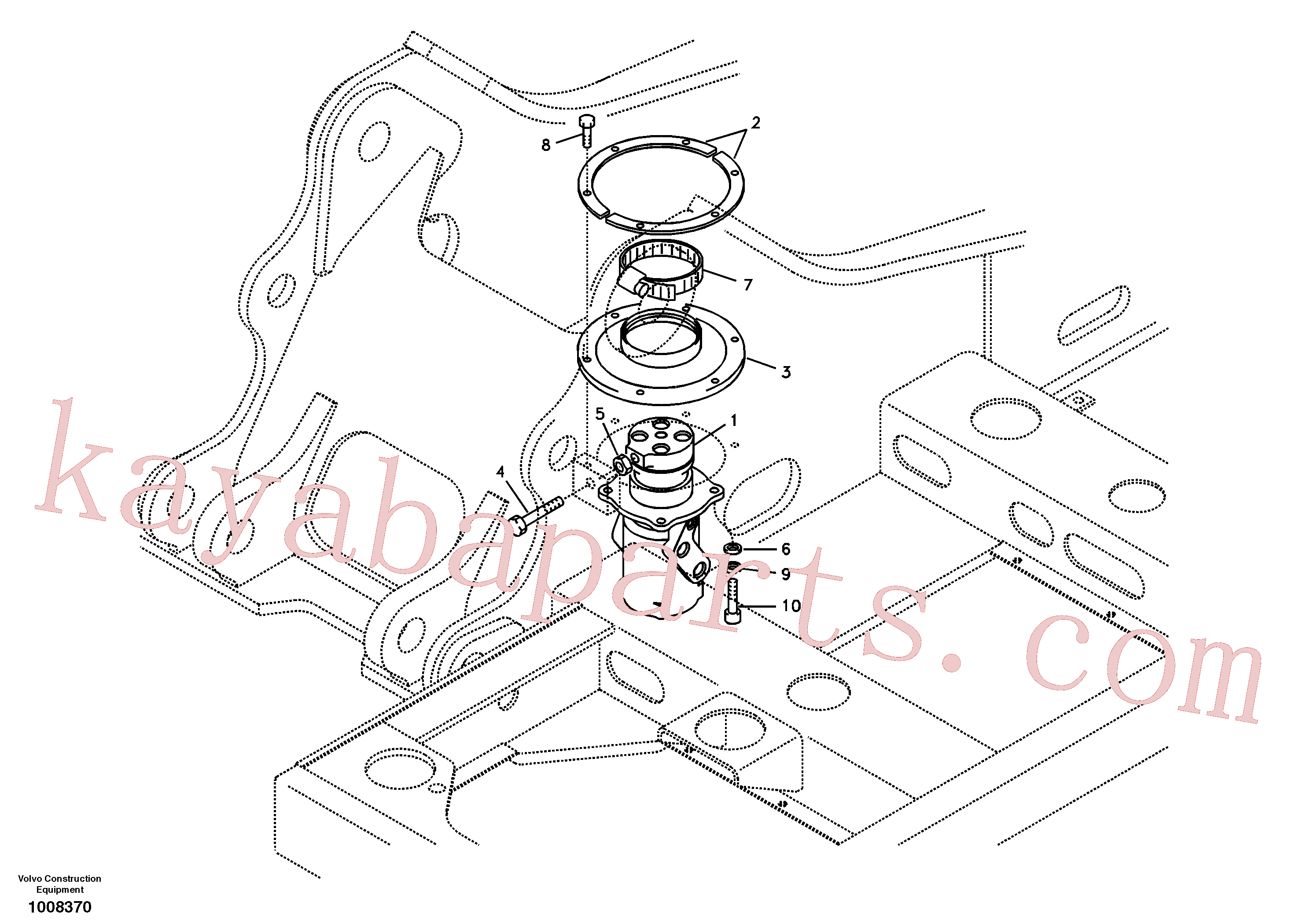 SA1155-01191 for Volvo Turning joint, mounting(1008370 assembly)