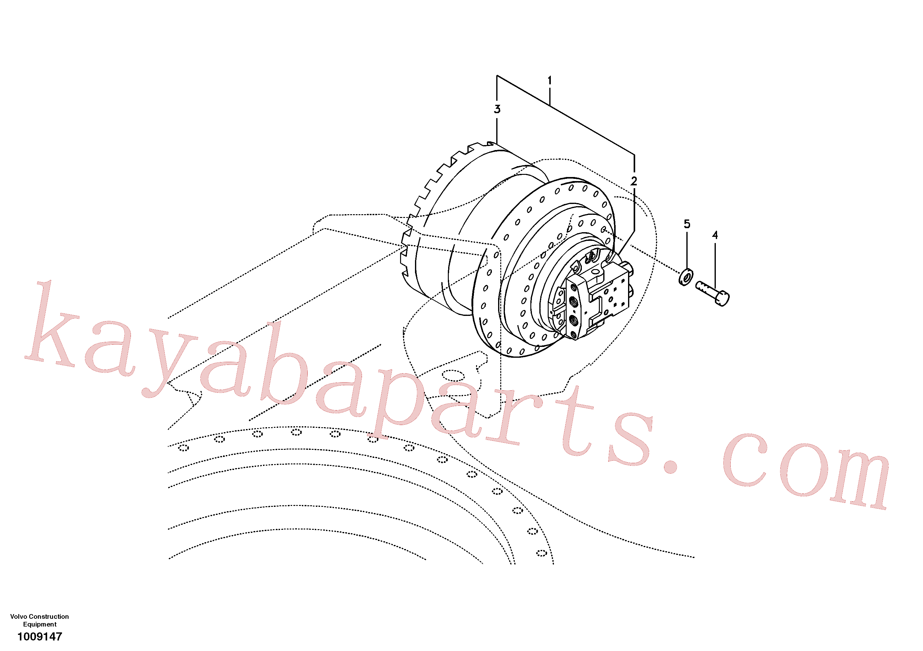 SA7117-30030 for Volvo Travel motor with mounting parts(1009147 assembly)