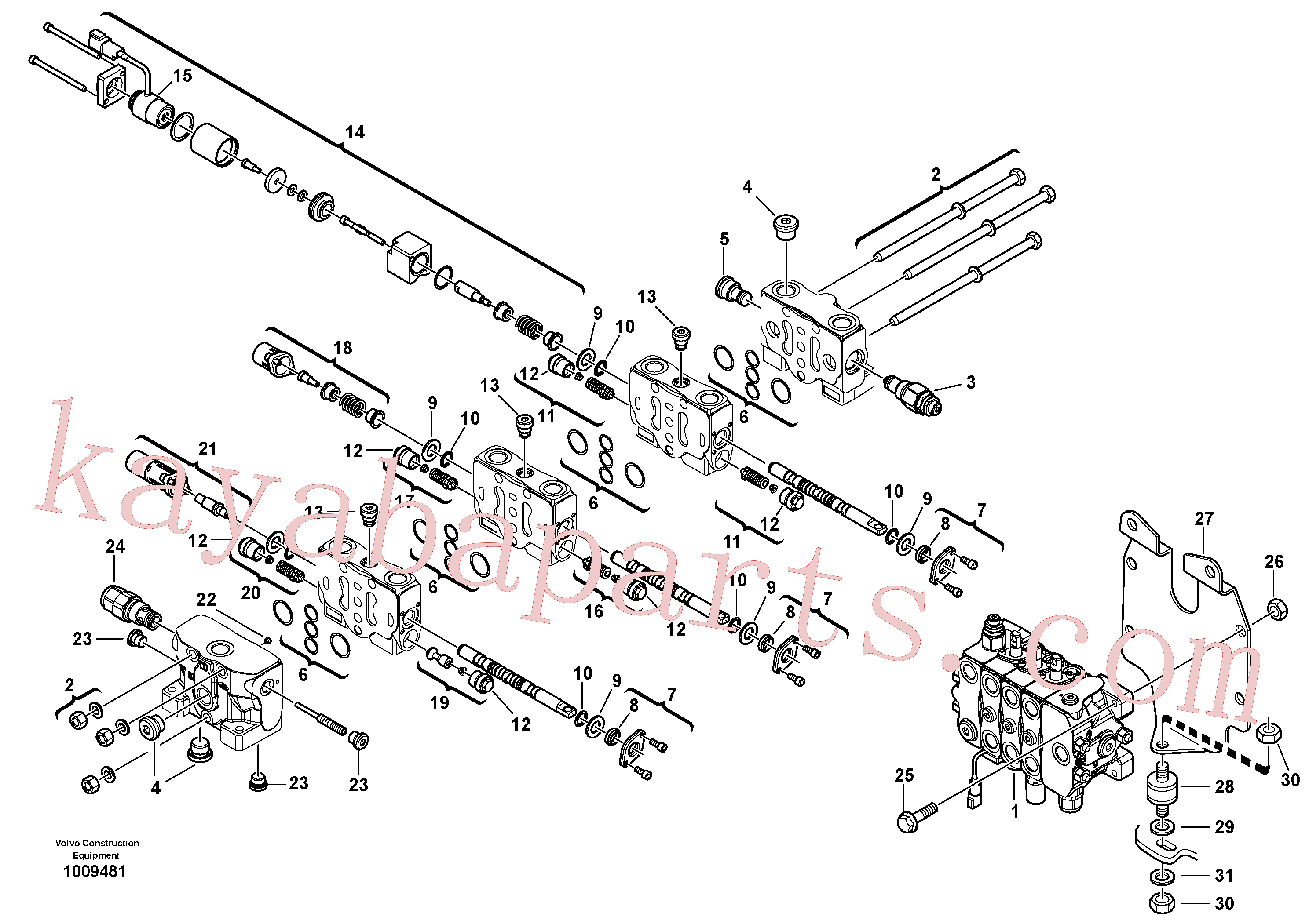 VOE11370785 for Volvo Control valve(1009481 assembly)
