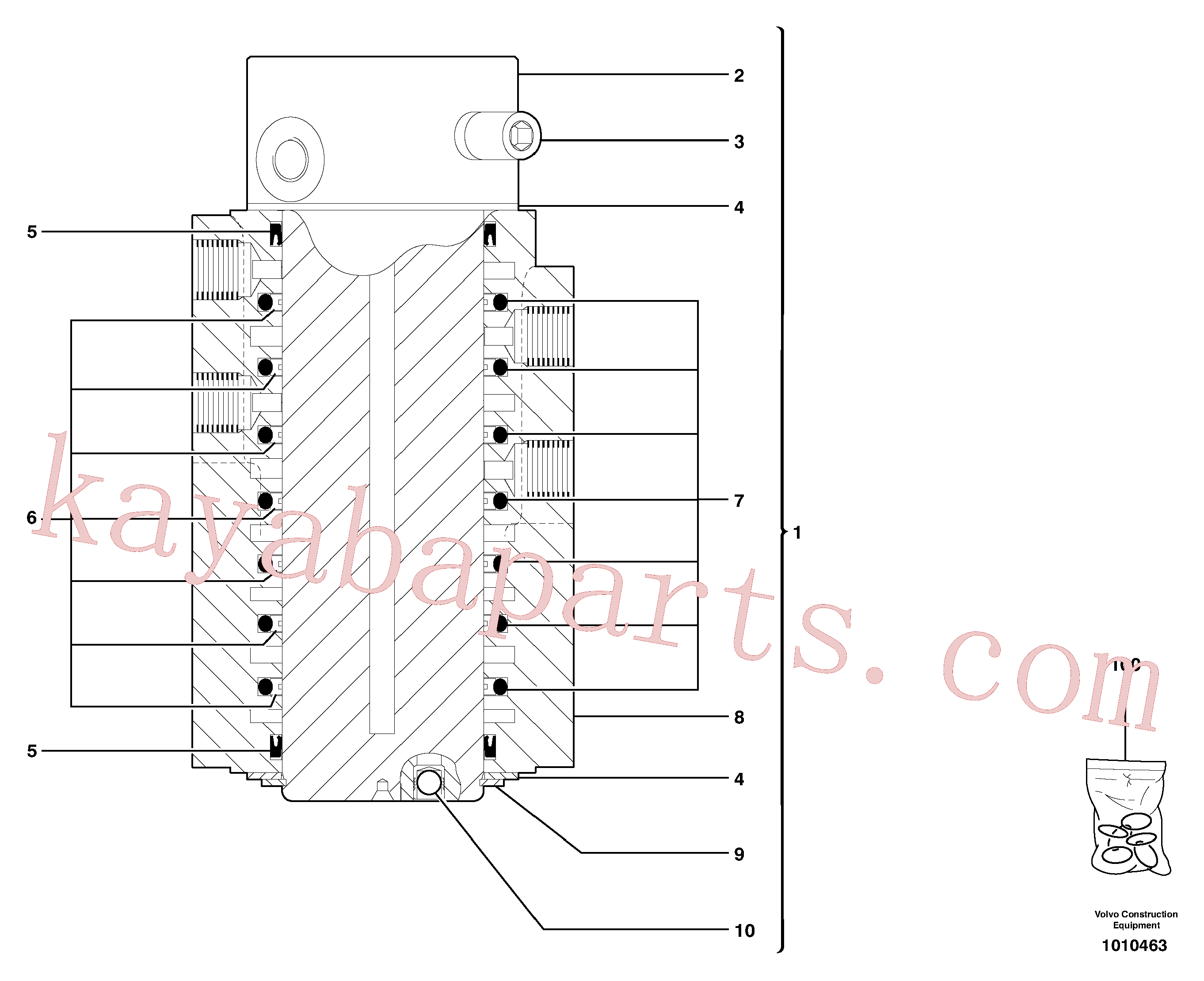 PJ7418485 for Volvo Swivel joint(1010463 assembly)