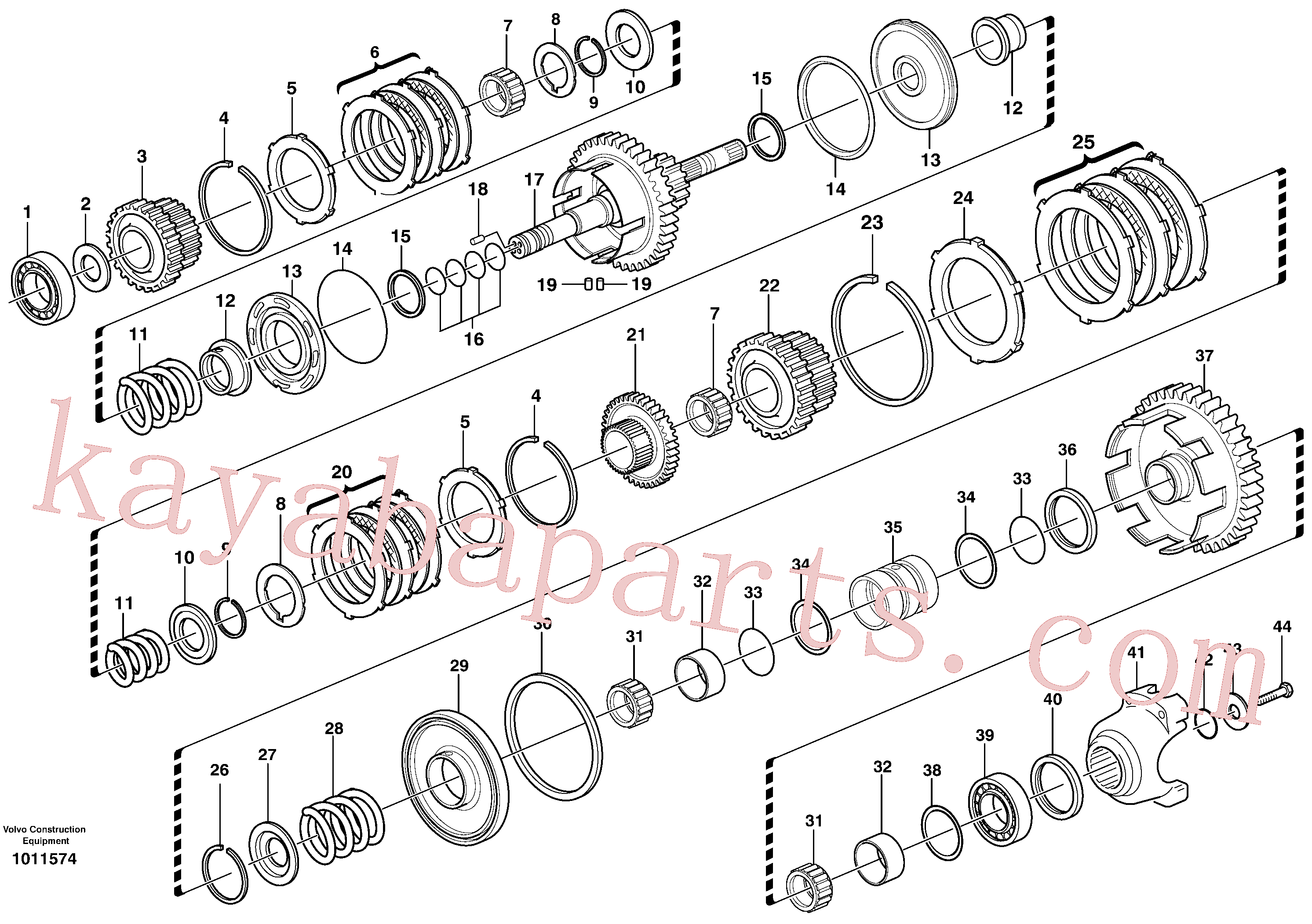 VOE11709093 for Volvo Secondary shaft(1011574 assembly)