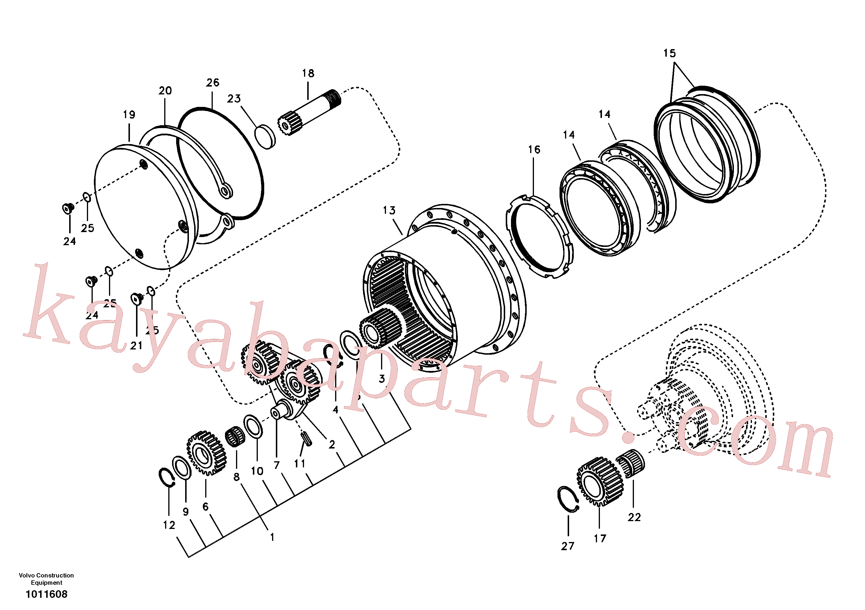VOE14516551 for Volvo Travel gearbox(1011608 assembly)