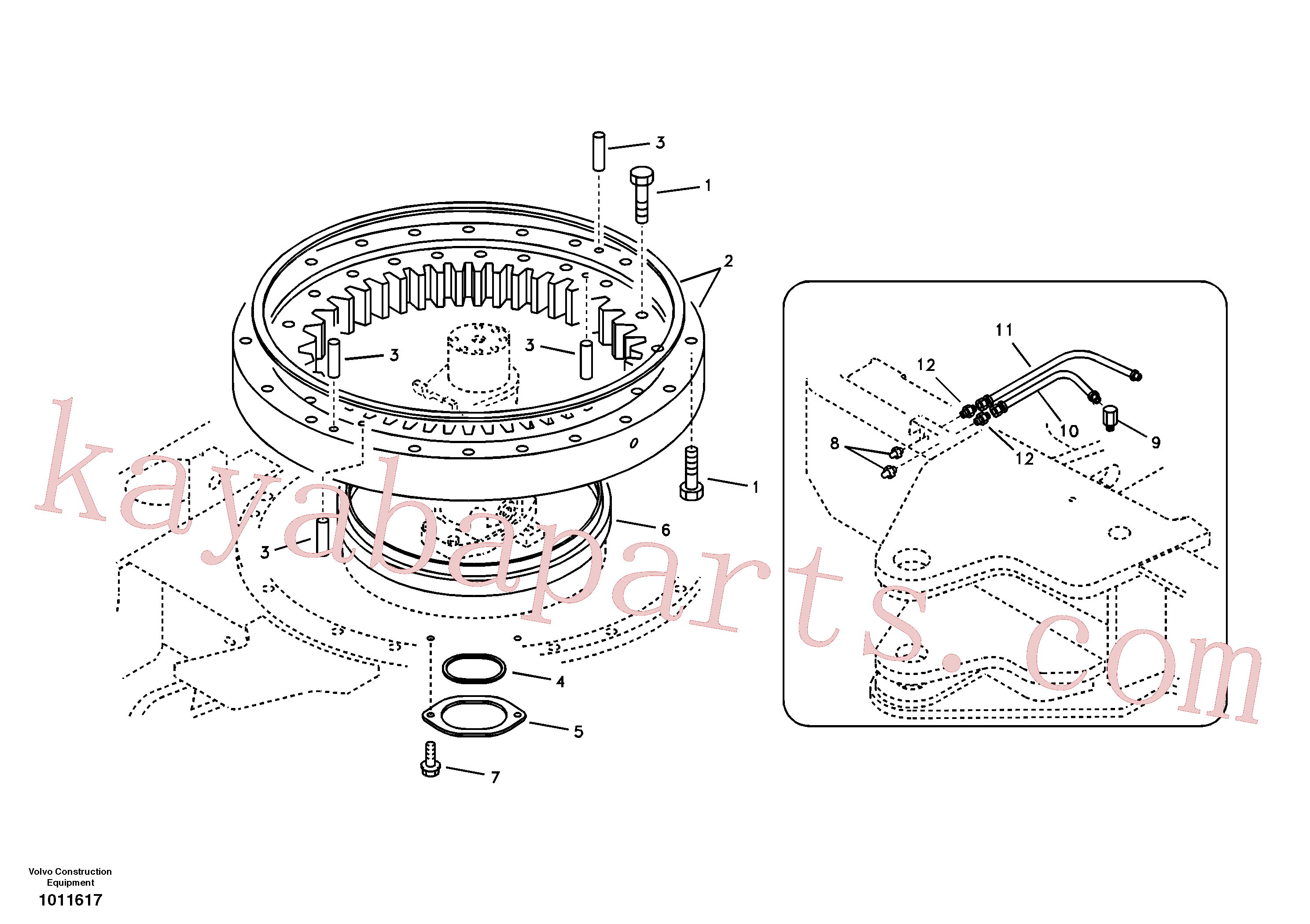 VOE14565611 for Volvo Swing system(1011617 assembly)