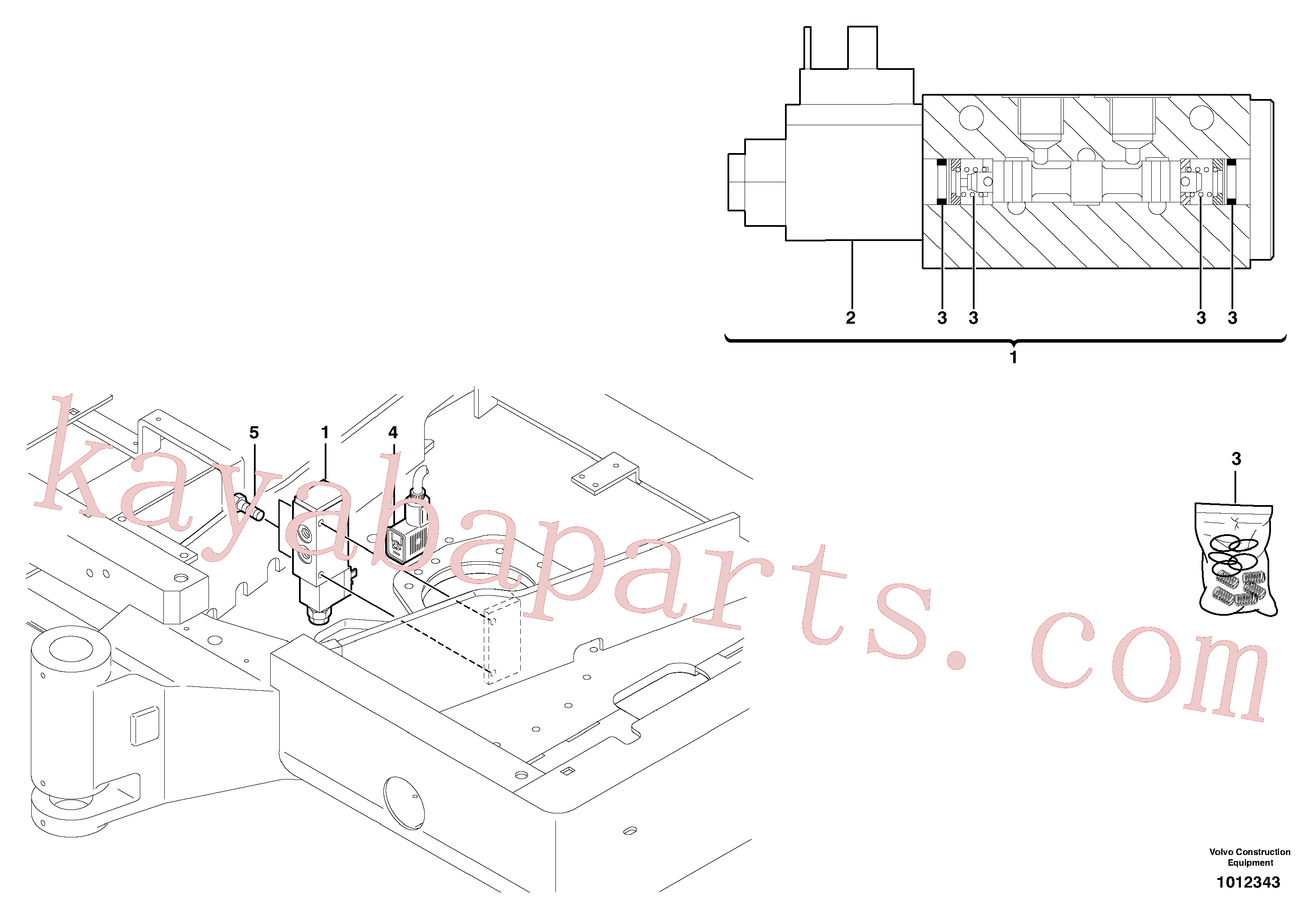 PJ5130052 for Volvo Electrovalve (quickfit )(1012343 assembly)