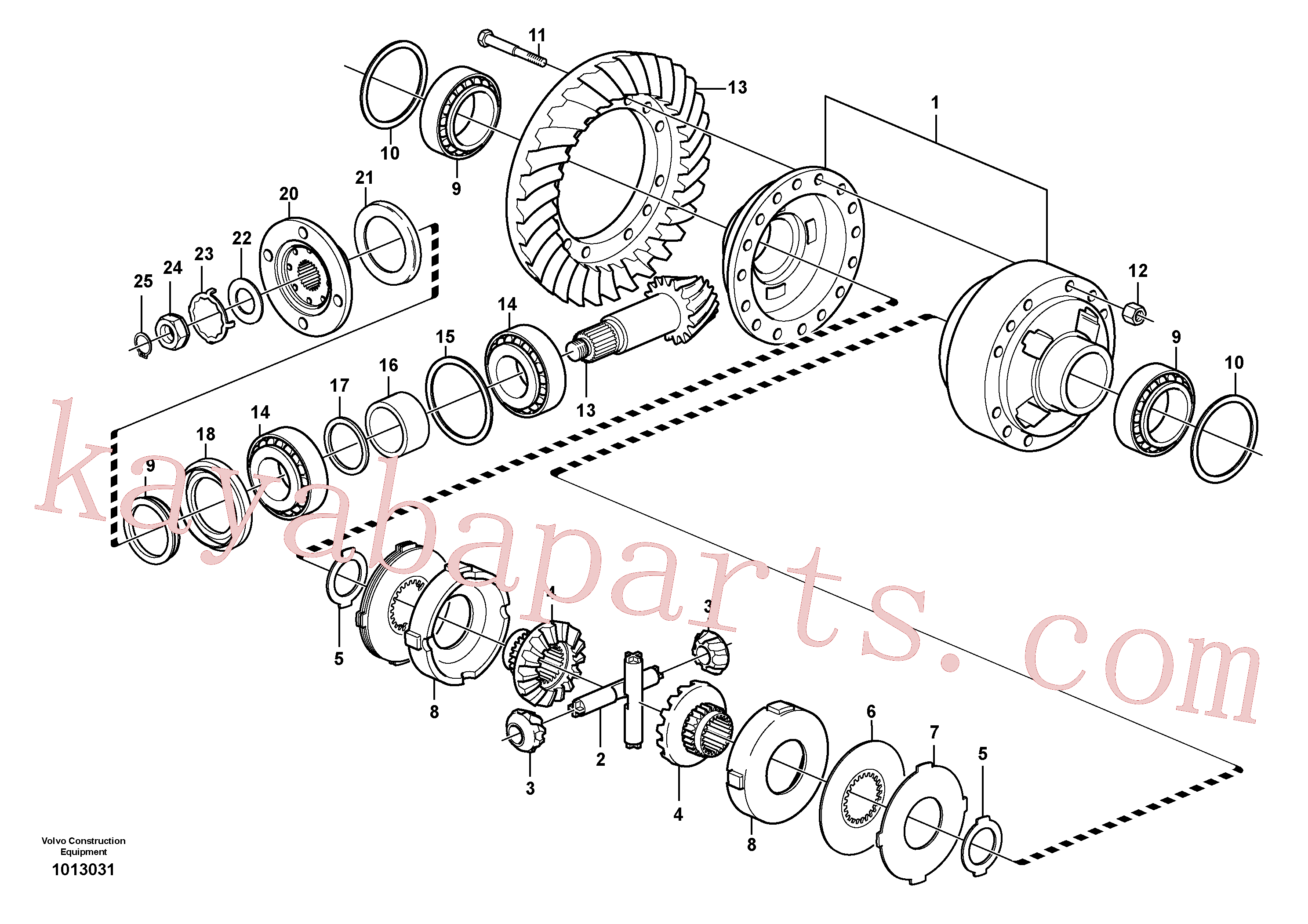 VOE11168058 for Volvo Final drive, rear(1013031 assembly)