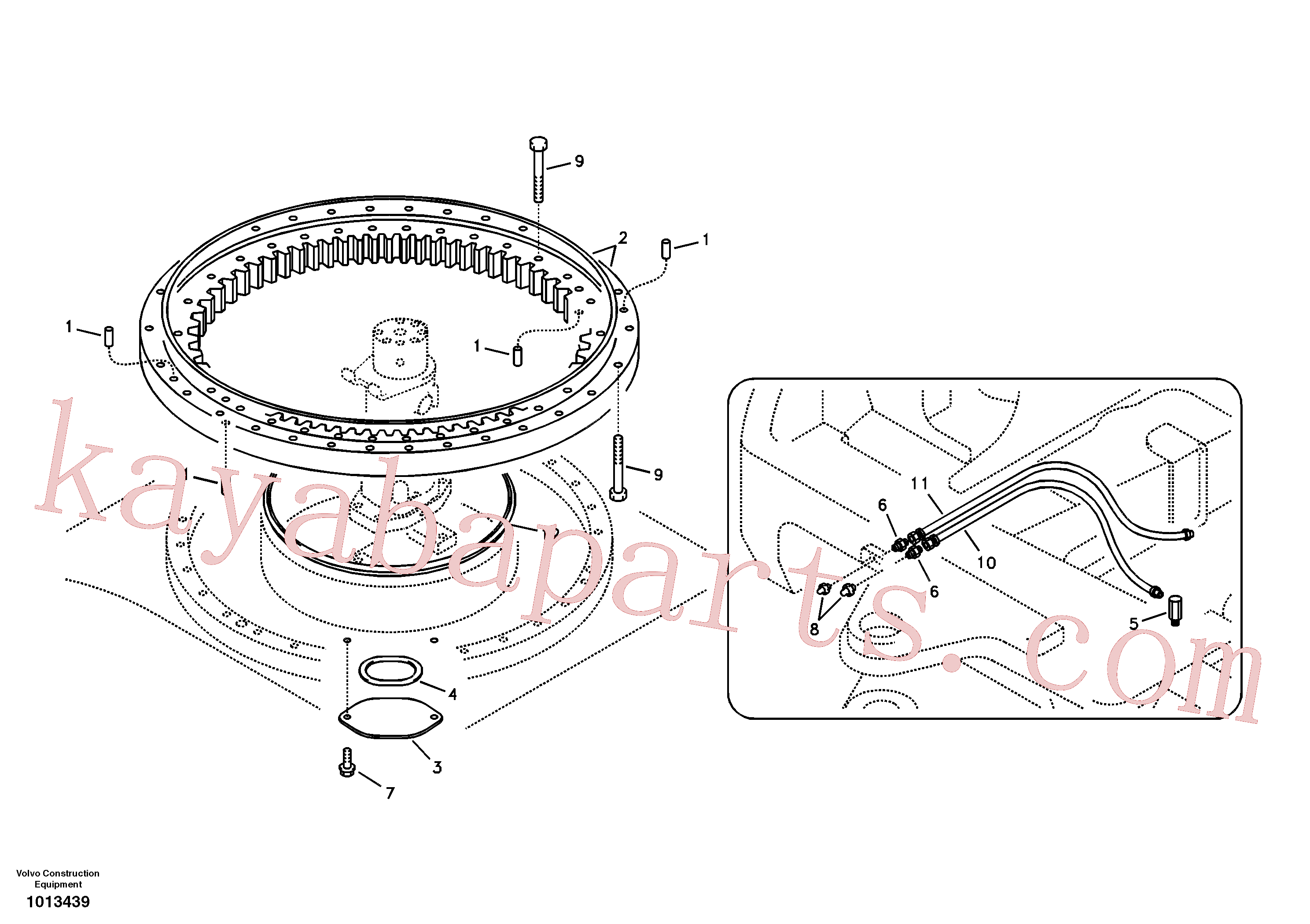 VOE14565611 for Volvo Swing system(1013439 assembly)