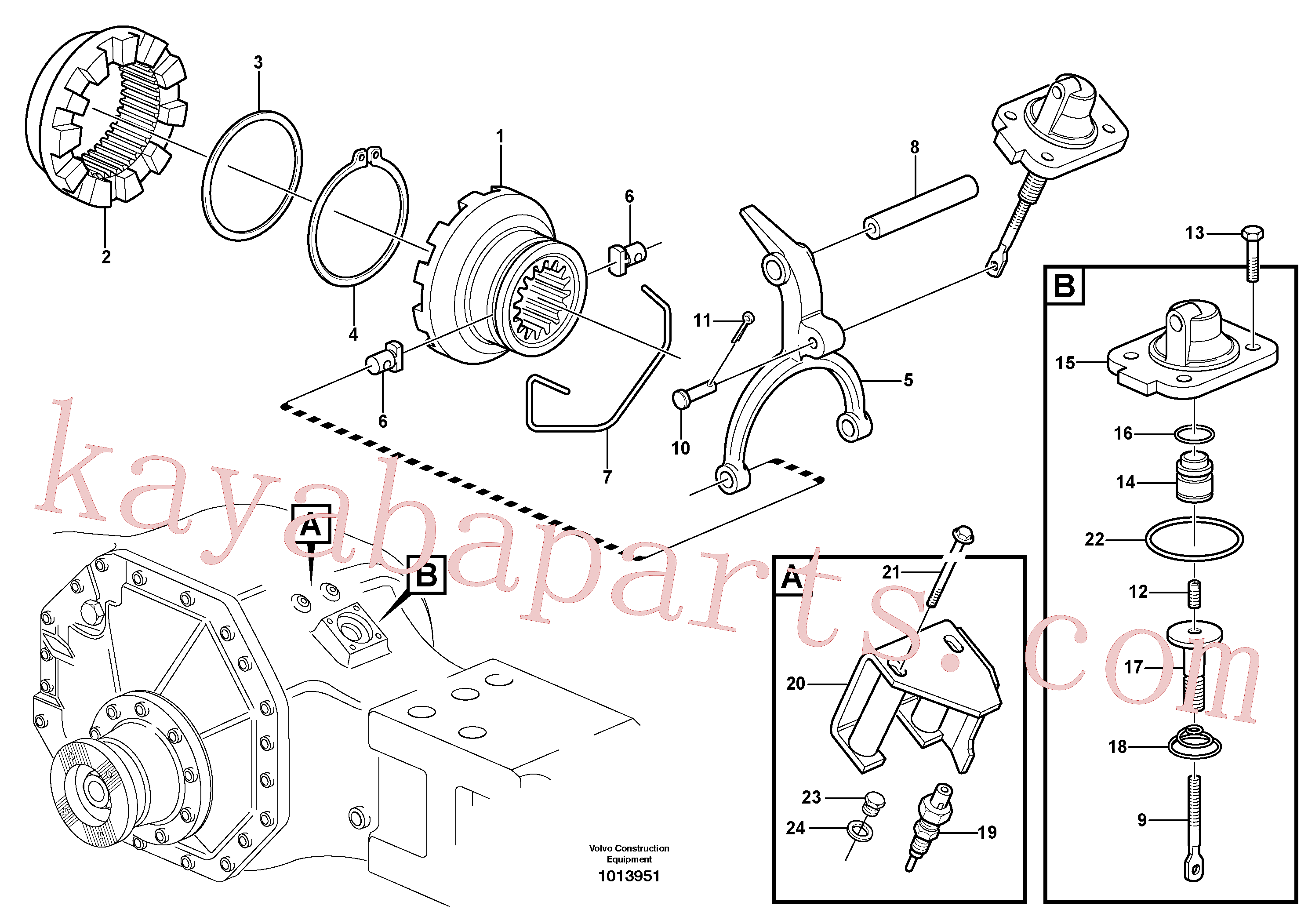 VOE60113080 for Volvo Differential lock(1013951 assembly)