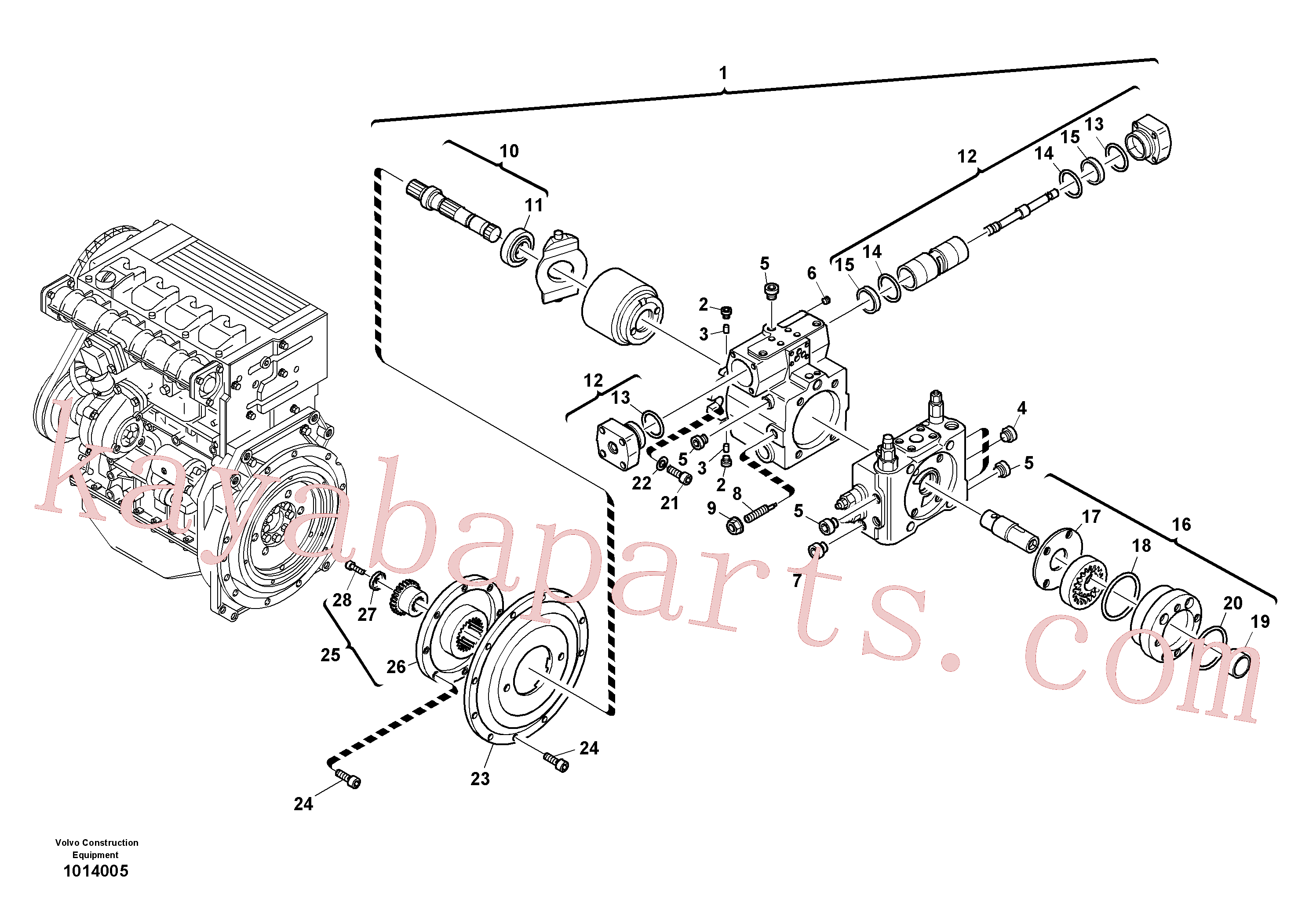 SA8230-29420 for Volvo Variable displacement pump(1014005 assembly)