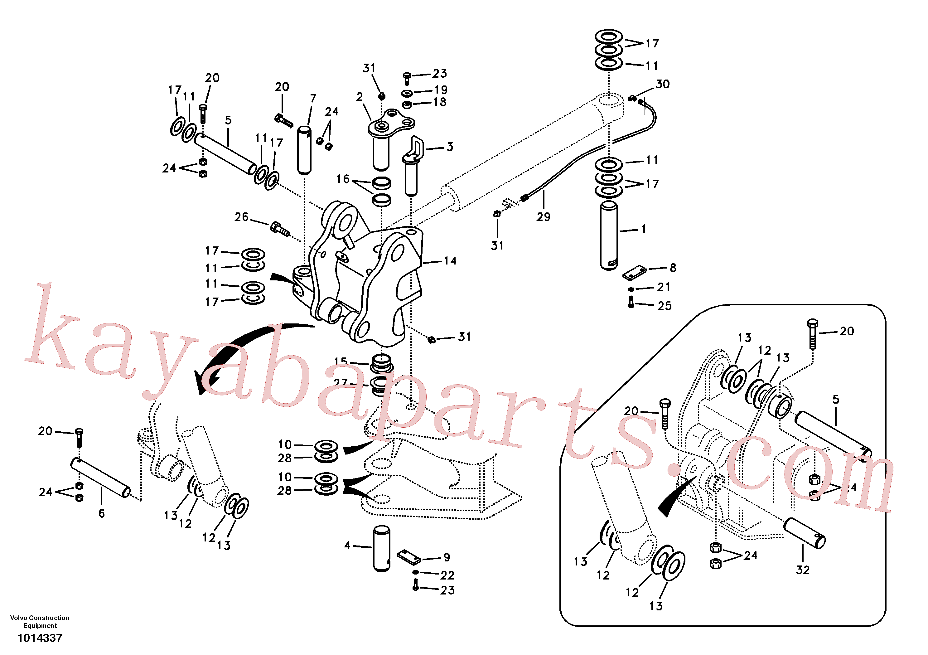 SA1171-30640 for Volvo Links to boom(1014337 assembly)