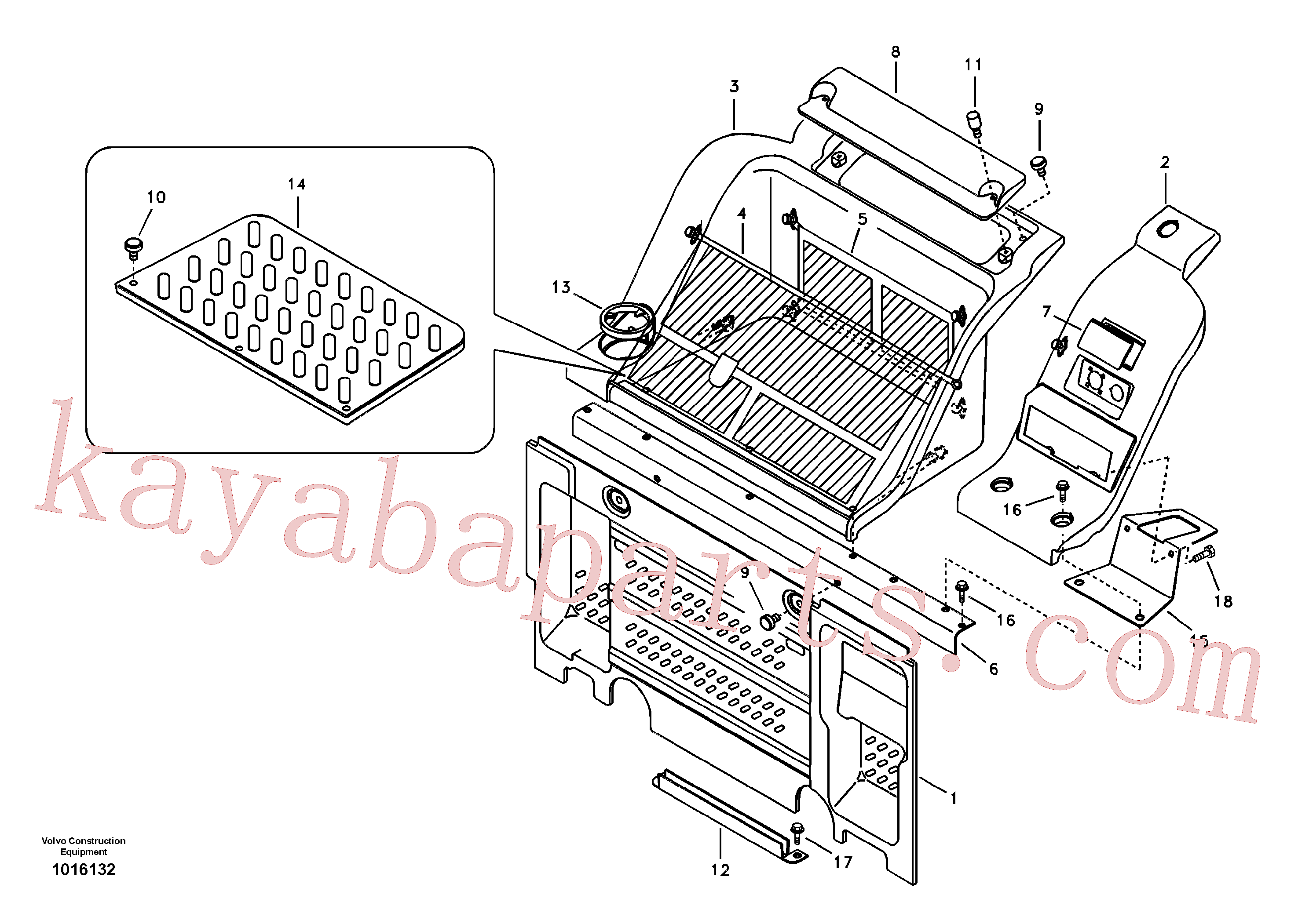 VOE14572499 for Volvo Instrument panel, radio panel(1016132 assembly)