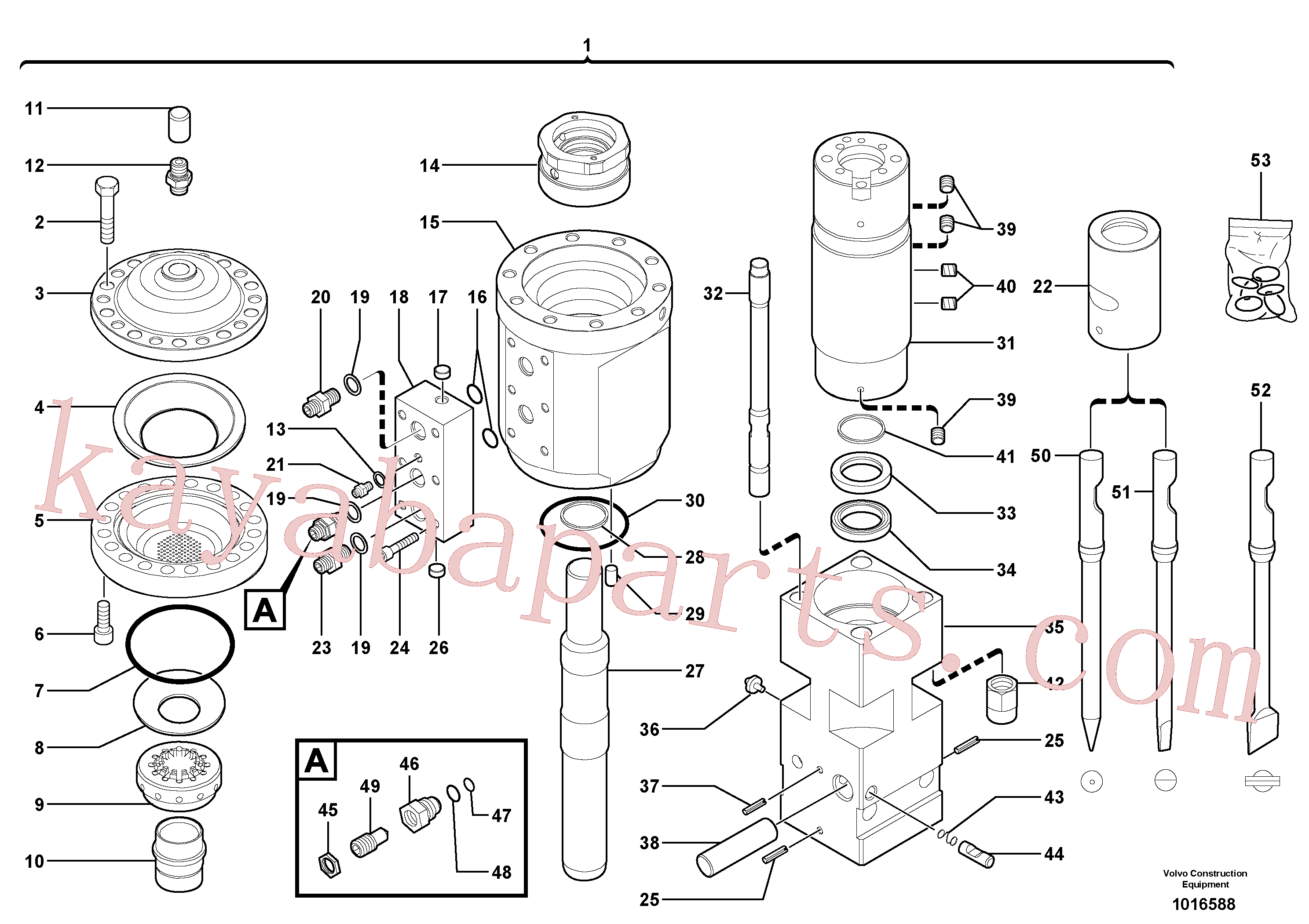 VOE11716199 for Volvo Hammer(1016588 assembly)