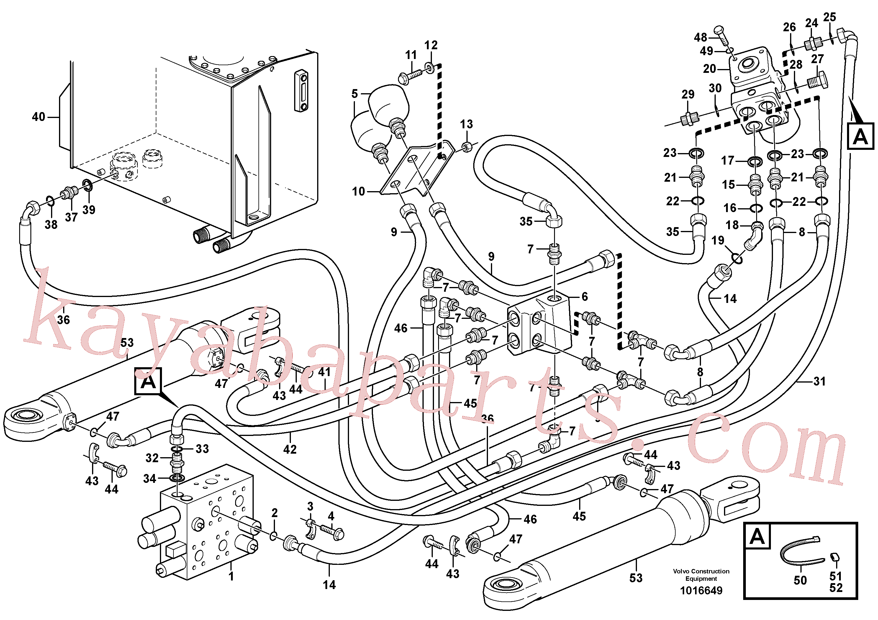 PJ4705008 for Volvo Steering system, pressure and return lines(1016649 assembly)