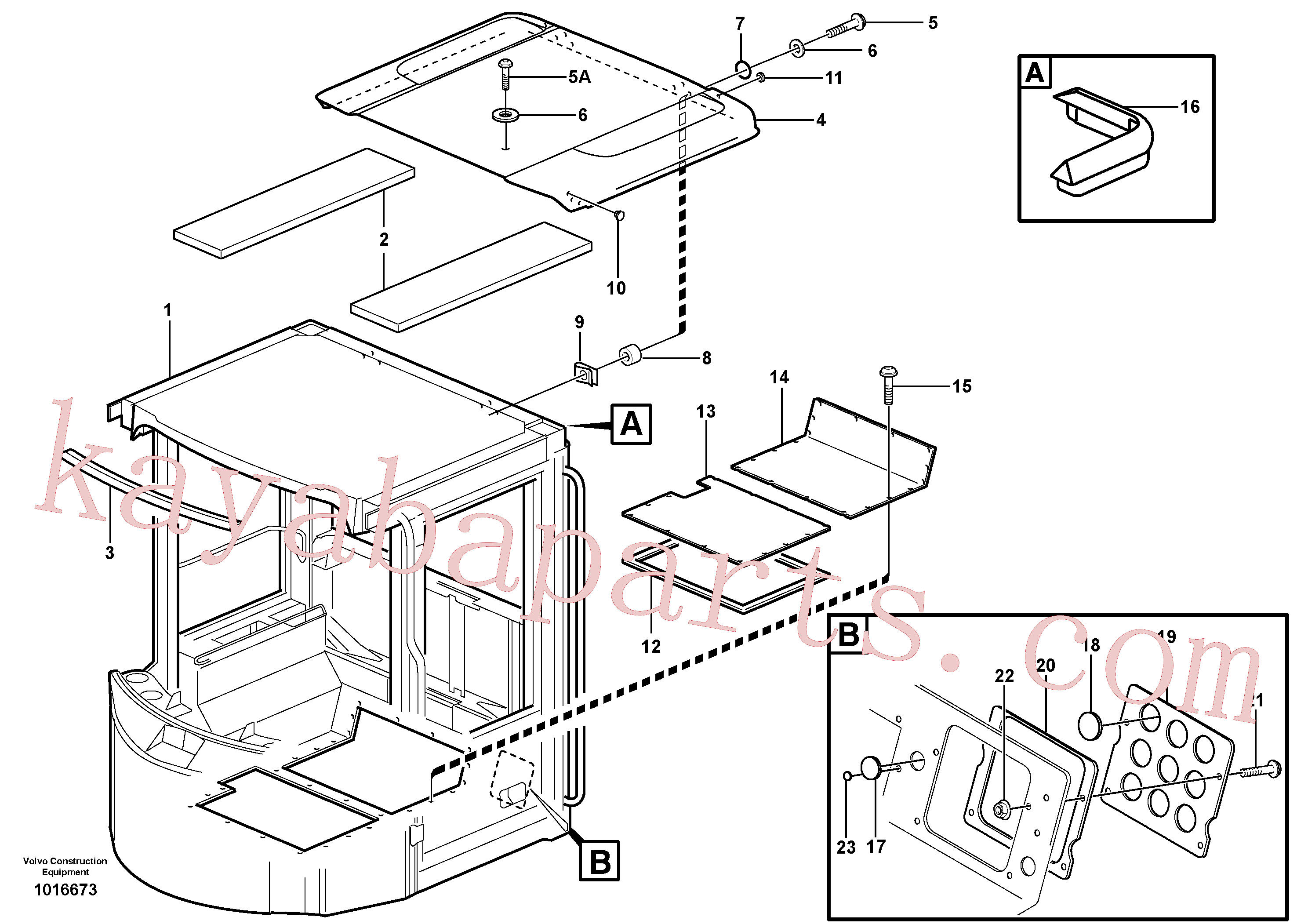 VOE13949867 for Volvo Cab body: roof and floor panel.(1016673 assembly)