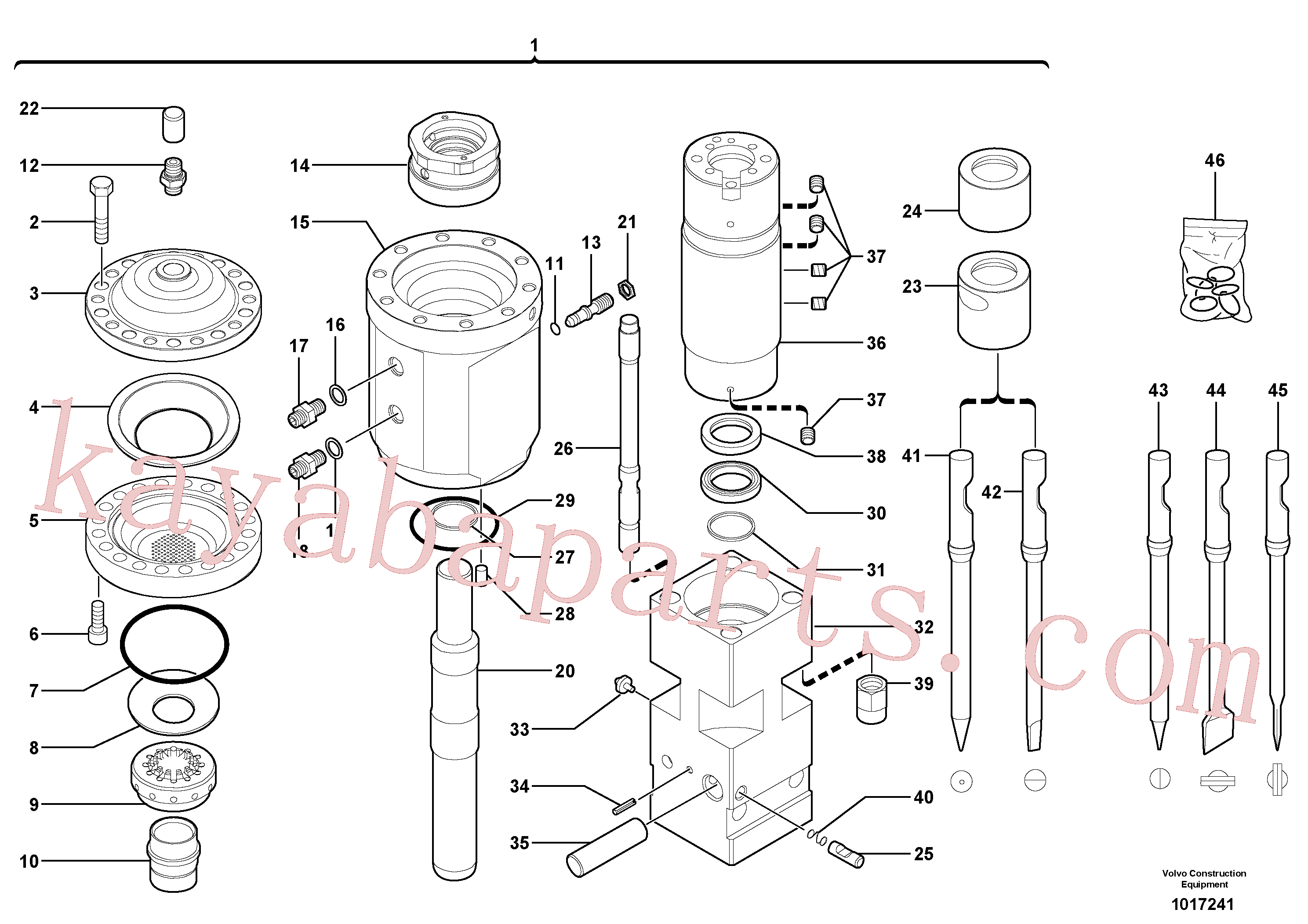 VOE11716199 for Volvo Hammer(1017241 assembly)