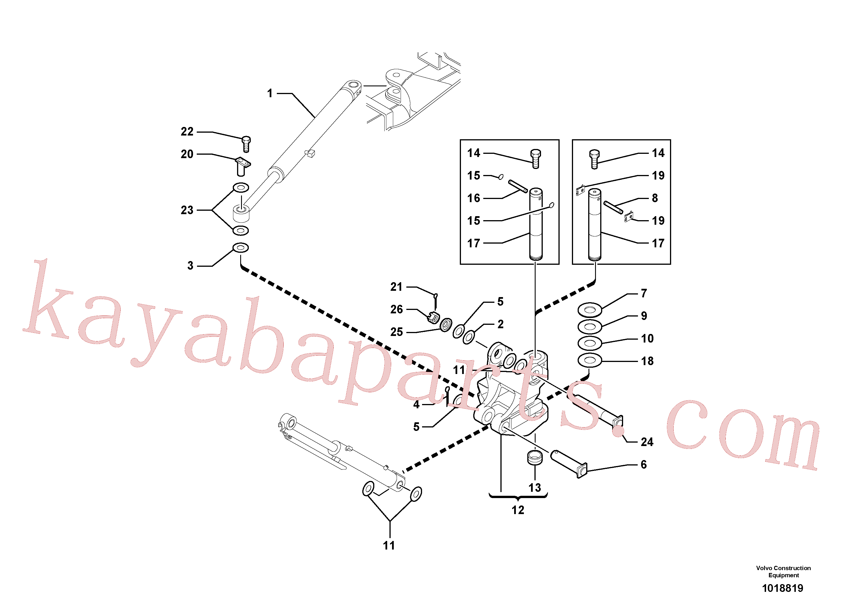 PJ4550065 for Volvo Pivot pin(1018819 assembly)