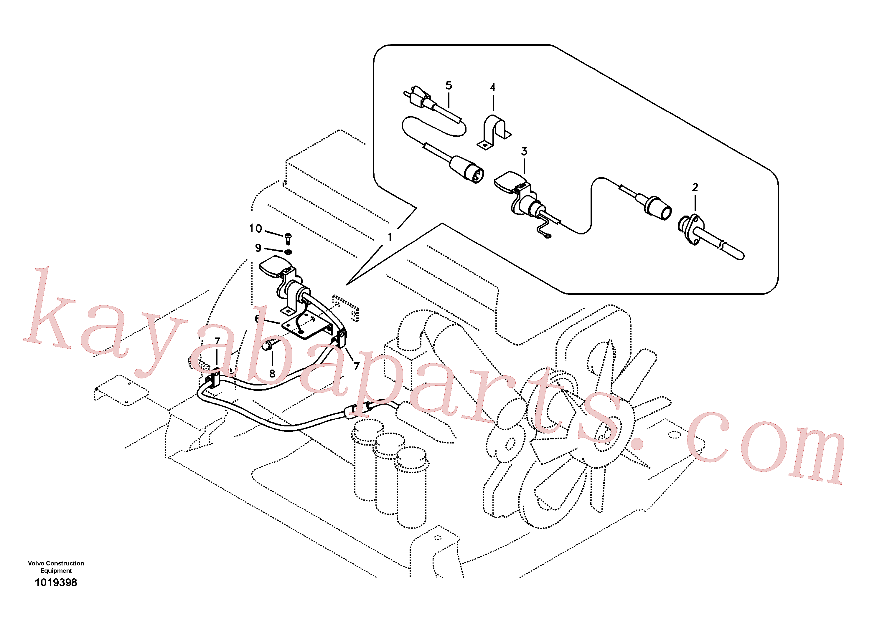 VOE13969513 for Volvo Engine block heater(1019398 assembly)
