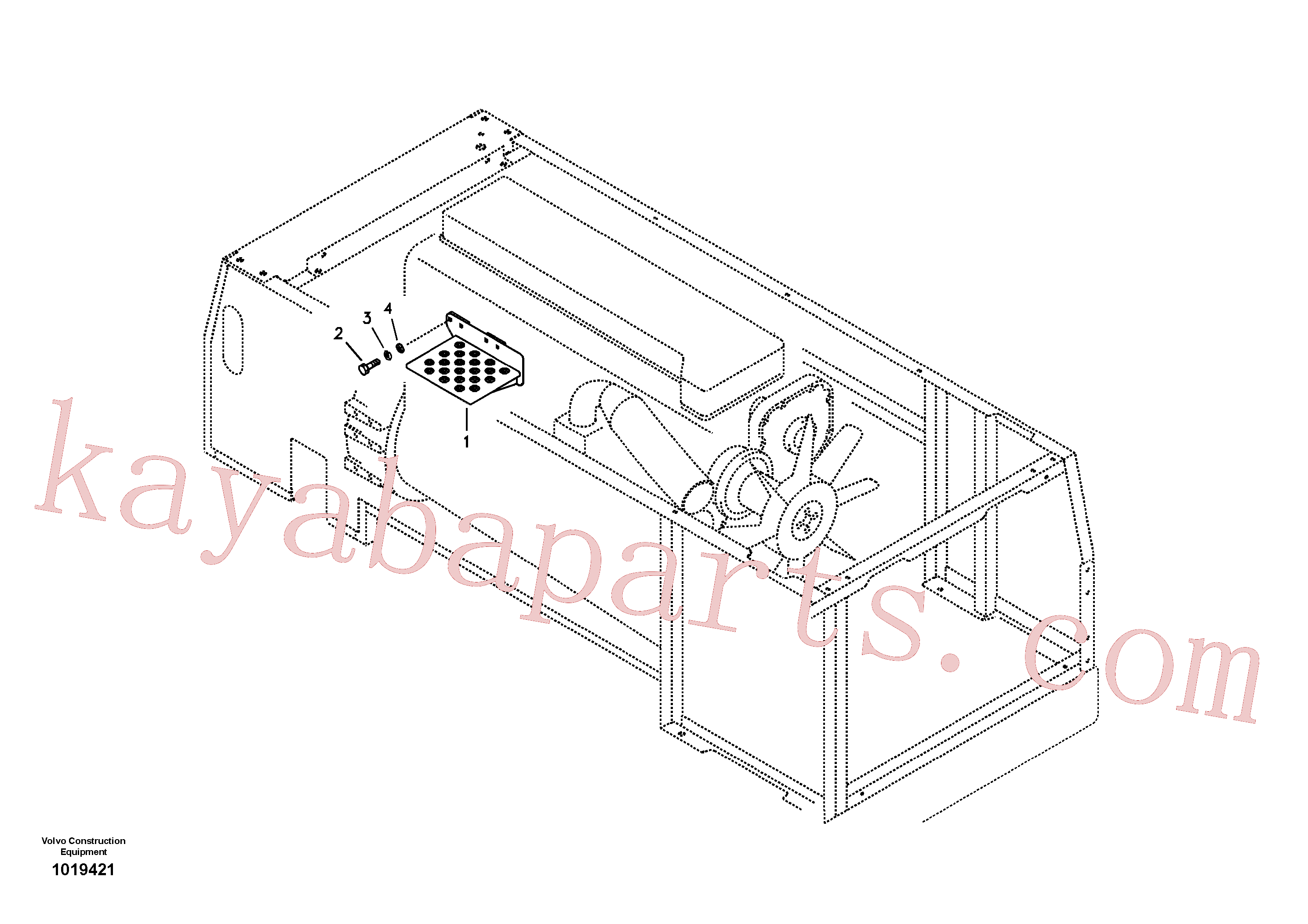 SA9011-21009 for Volvo Foot Steps, Engine Room(1019421 assembly)