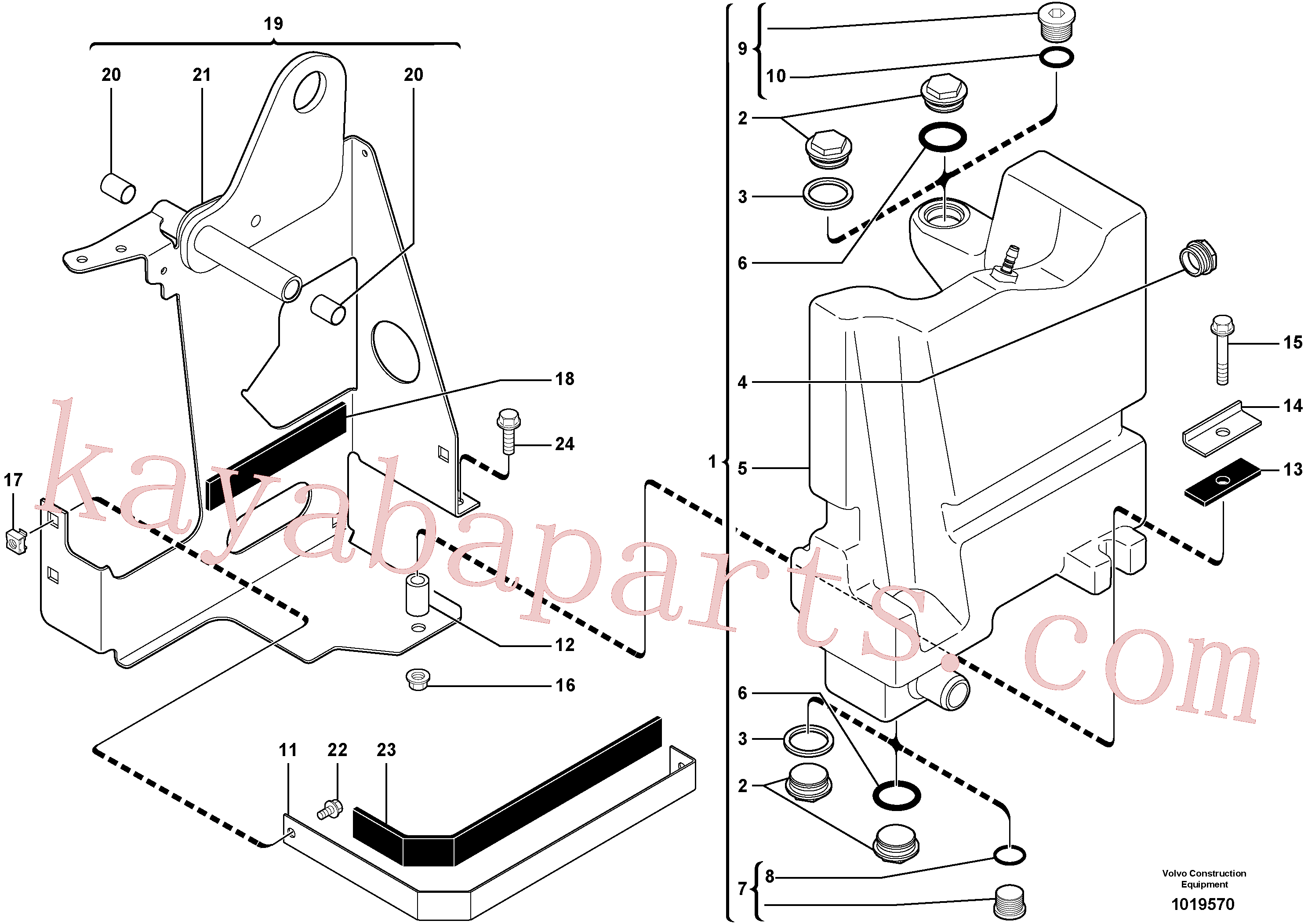 VOE11800064 for Volvo Hydraulic tank(1019570 assembly)