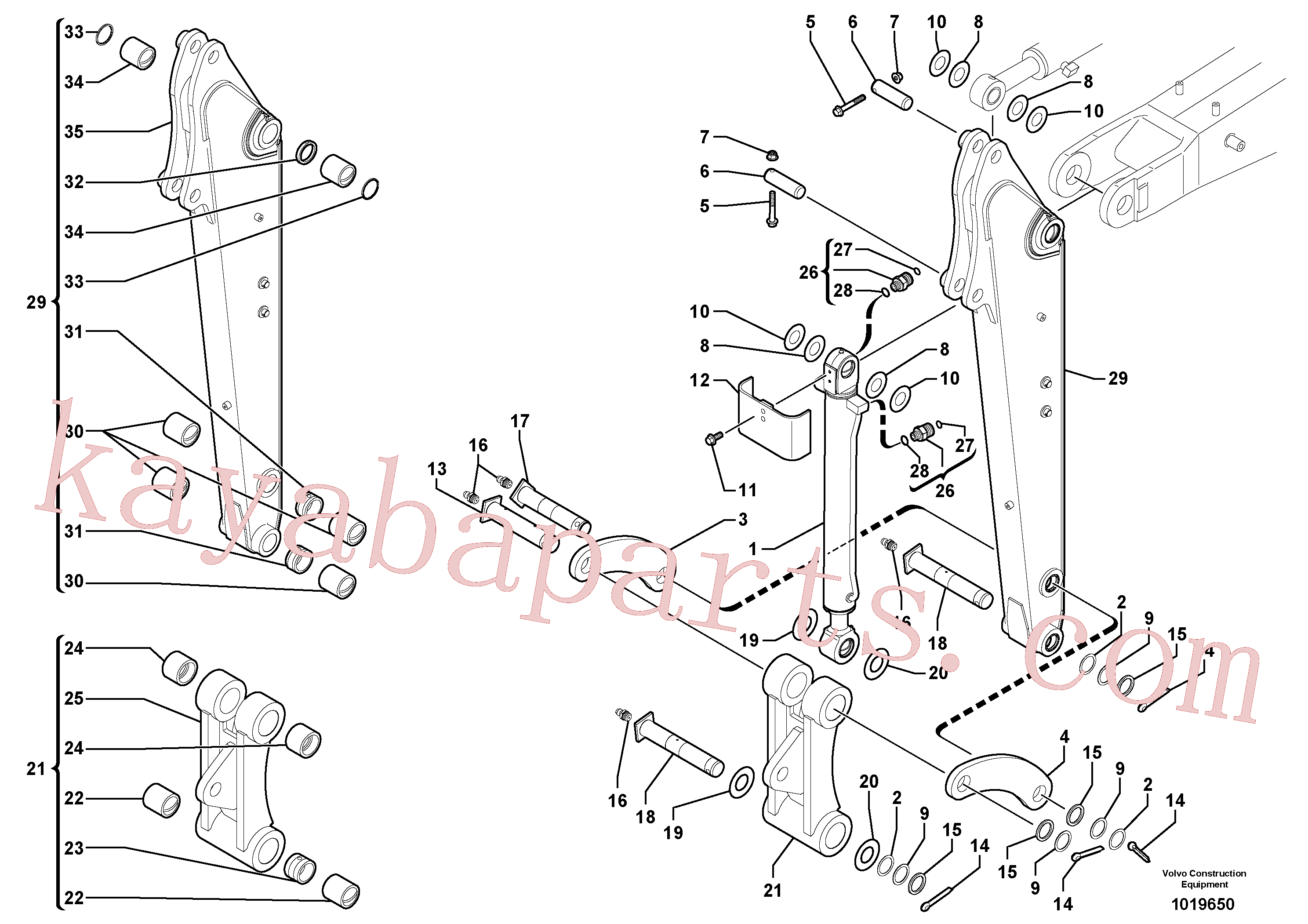 PJ4550065 for Volvo Dipper arm(1019650 assembly)