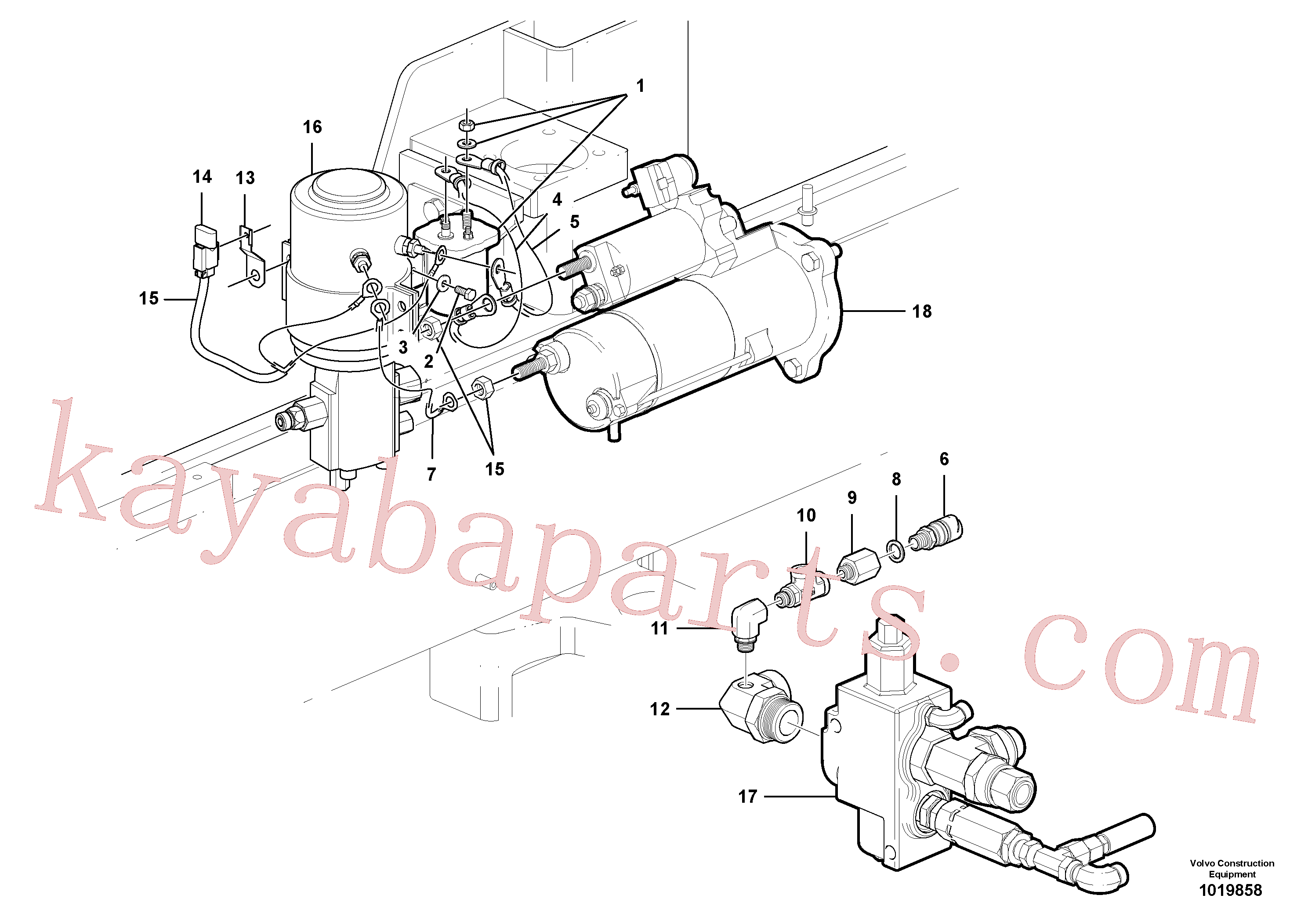 VOE983380 for Volvo Cable harness, secondary steering system.(1019858 assembly)