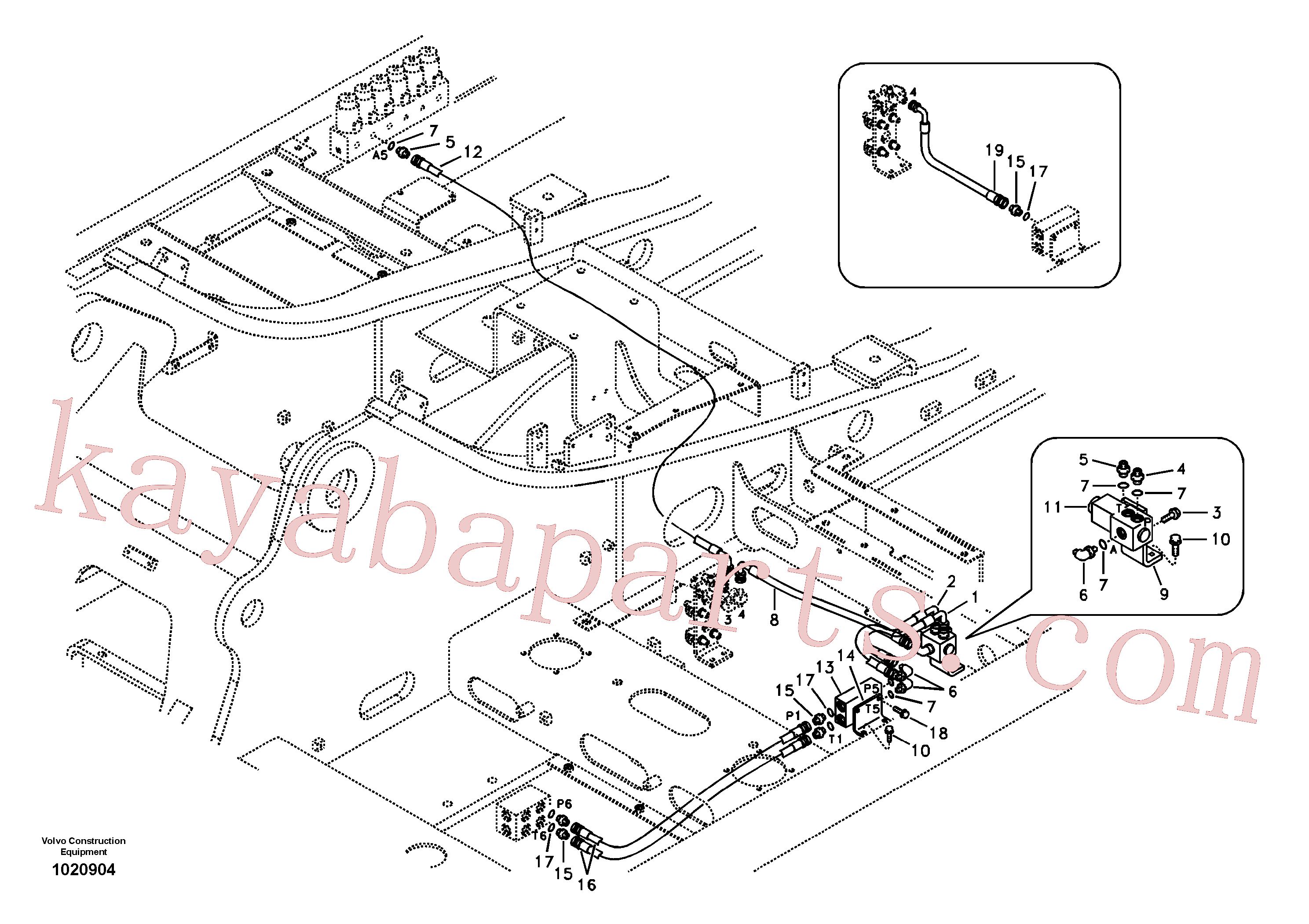 VOE14525794 for Volvo Servo system, hammer and shear(1020904 assembly)