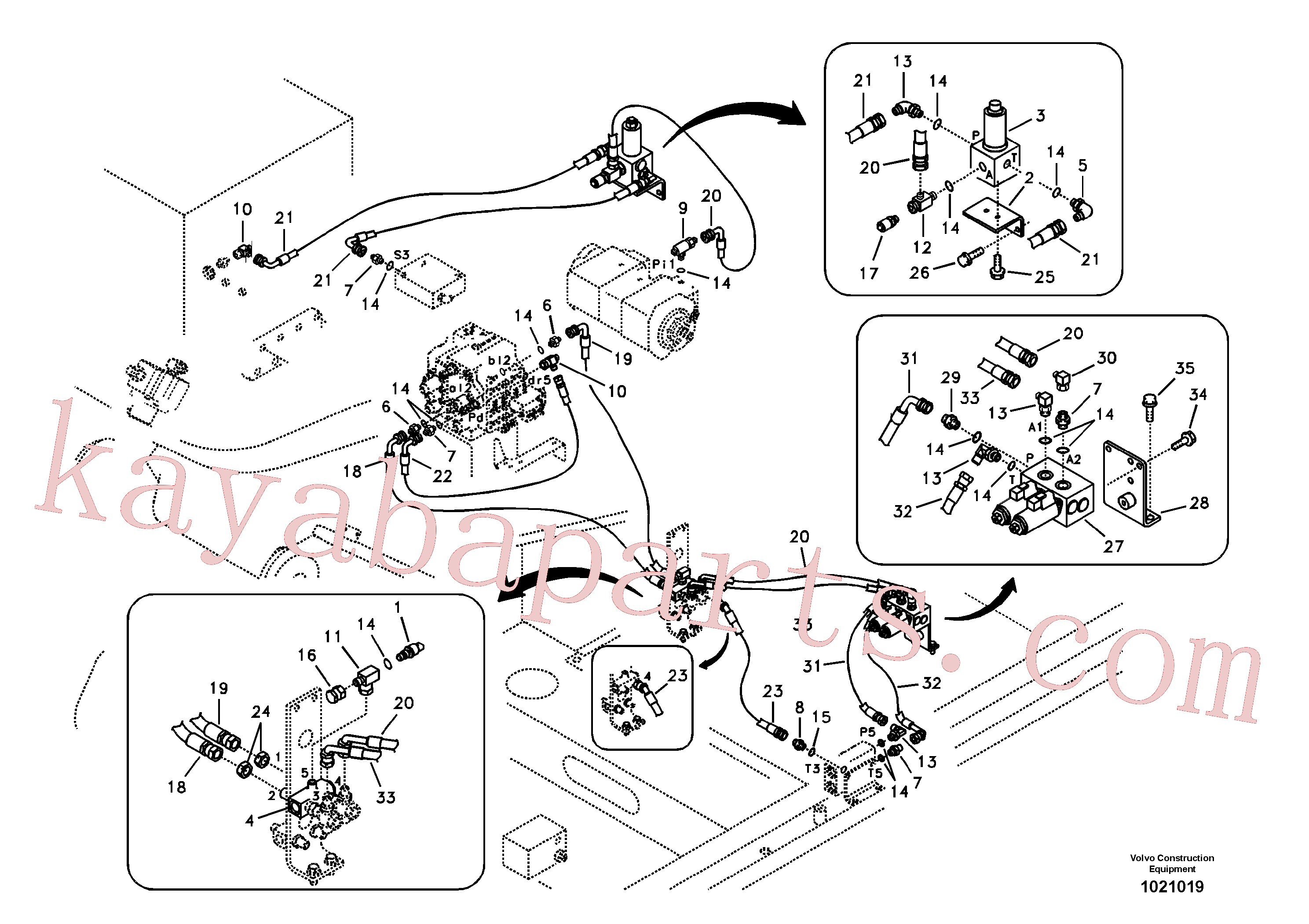 VOE14525794 for Volvo Working hydraulic, hammer and shear for 1st pump flow(1021019 assembly)