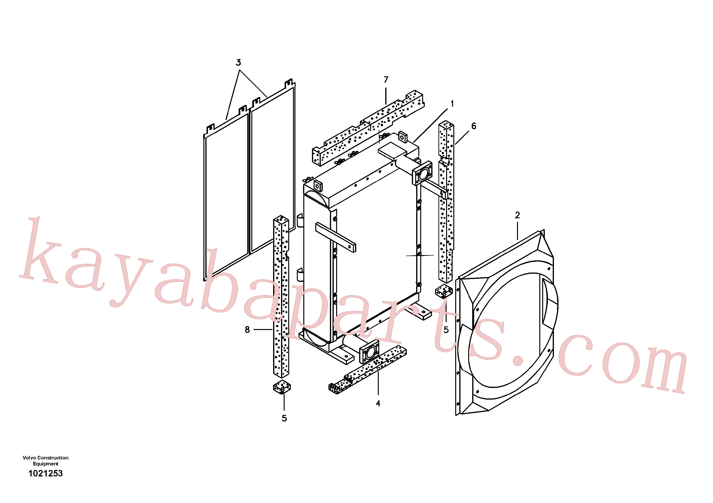 VOE14536398 for Volvo Hydraulic system, oil cooler(1021253 assembly)