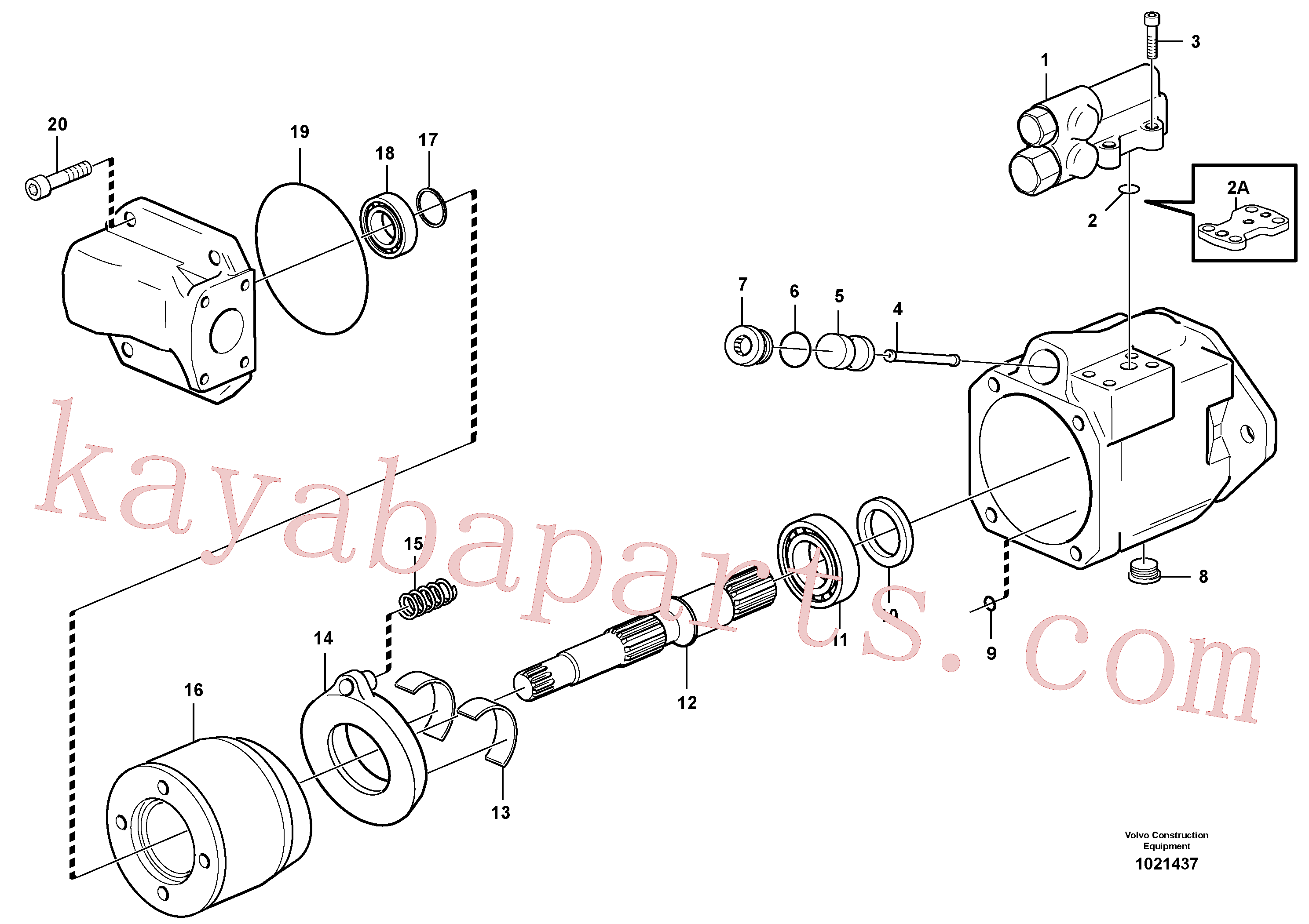 RM43997451 for Volvo Hydraulic pump(1021437 assembly)