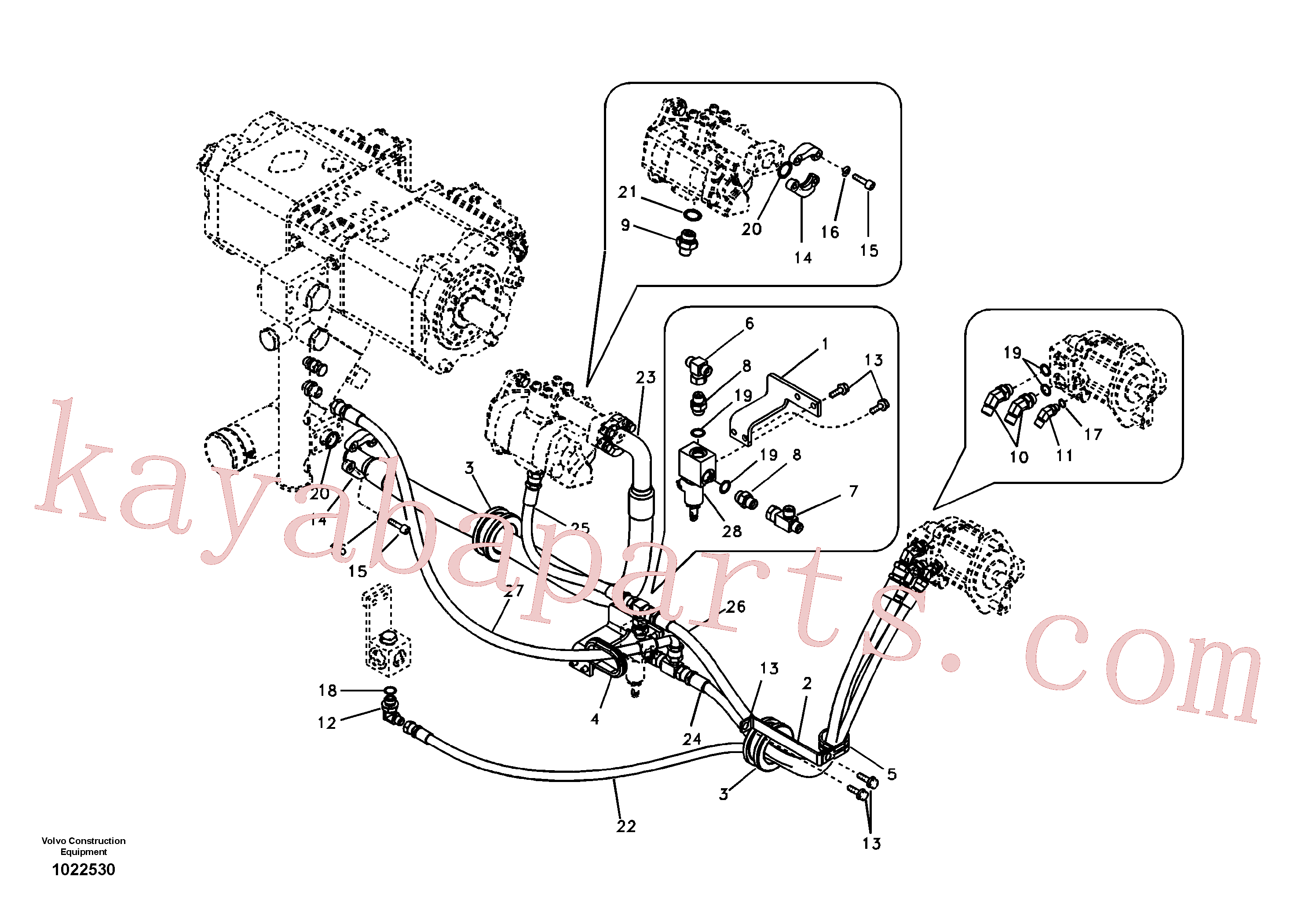 SA9497-07225 for Volvo Hydraulic system, oil cooling system(1022530 assembly)