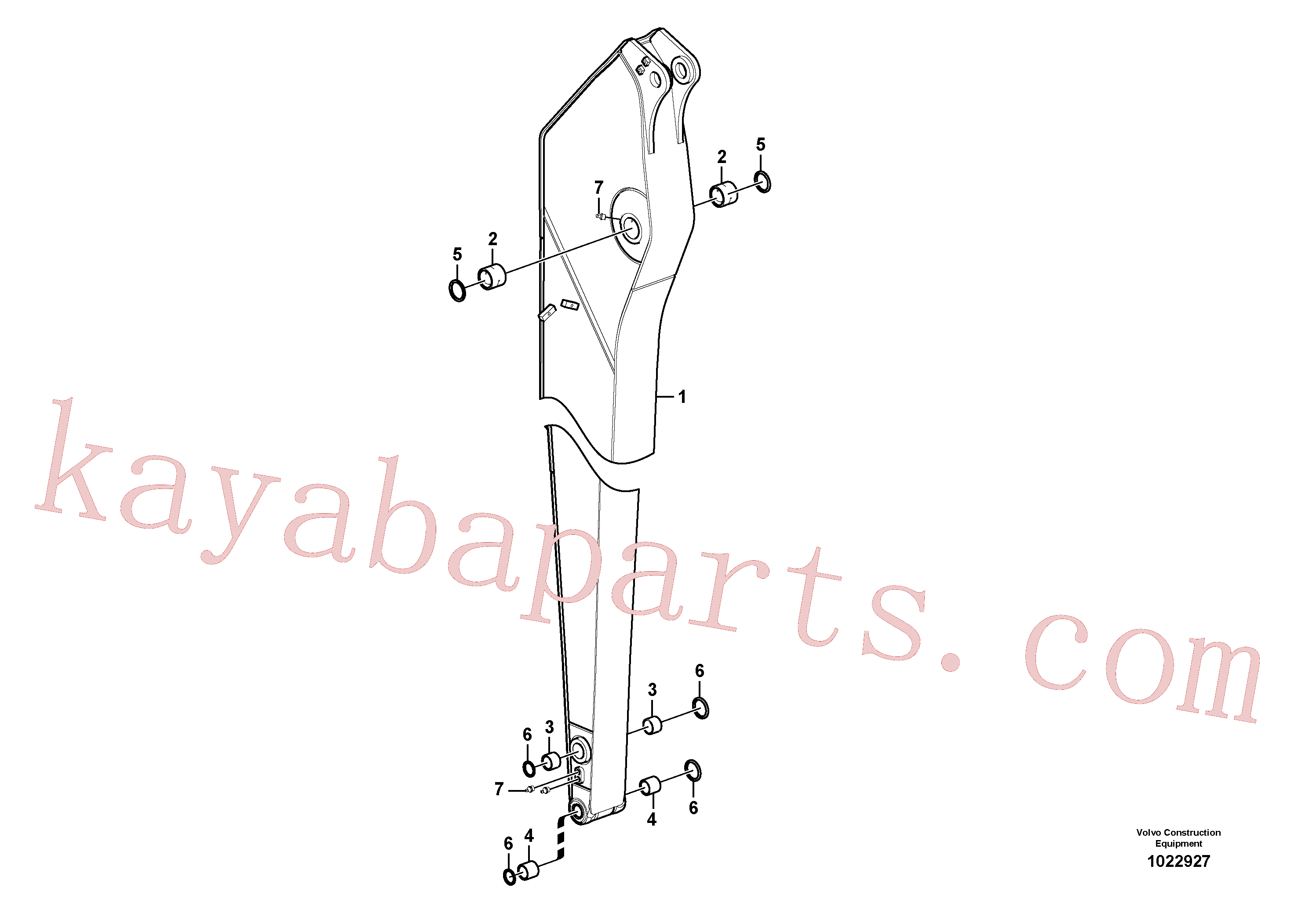 VOE14560201 for Volvo Dipper arm, long reach, Dipper arm and grease piping with piping seat, long reach(1022927 assembly)