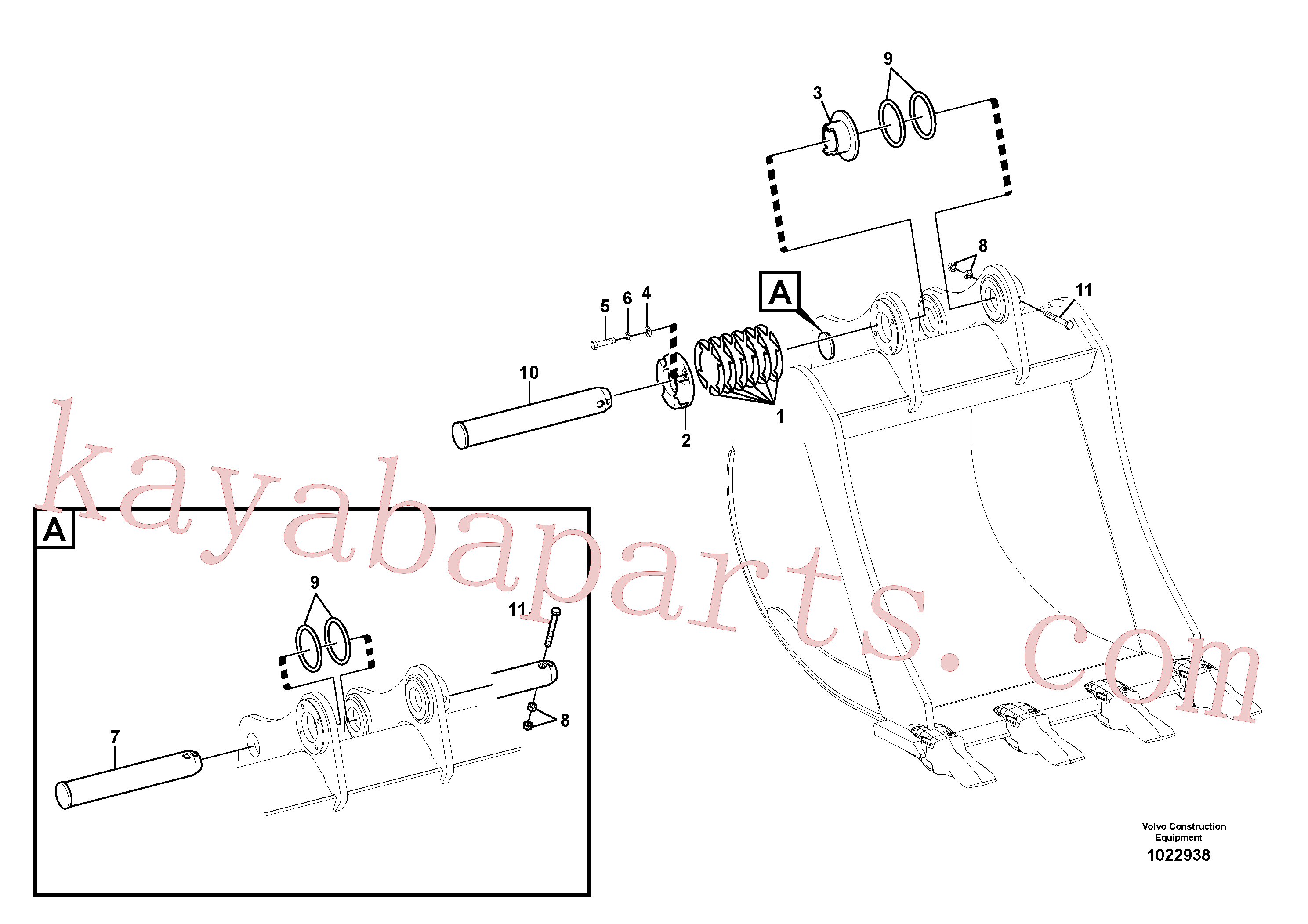 VOE14625420 for Volvo Links to bucket(1022938 assembly)