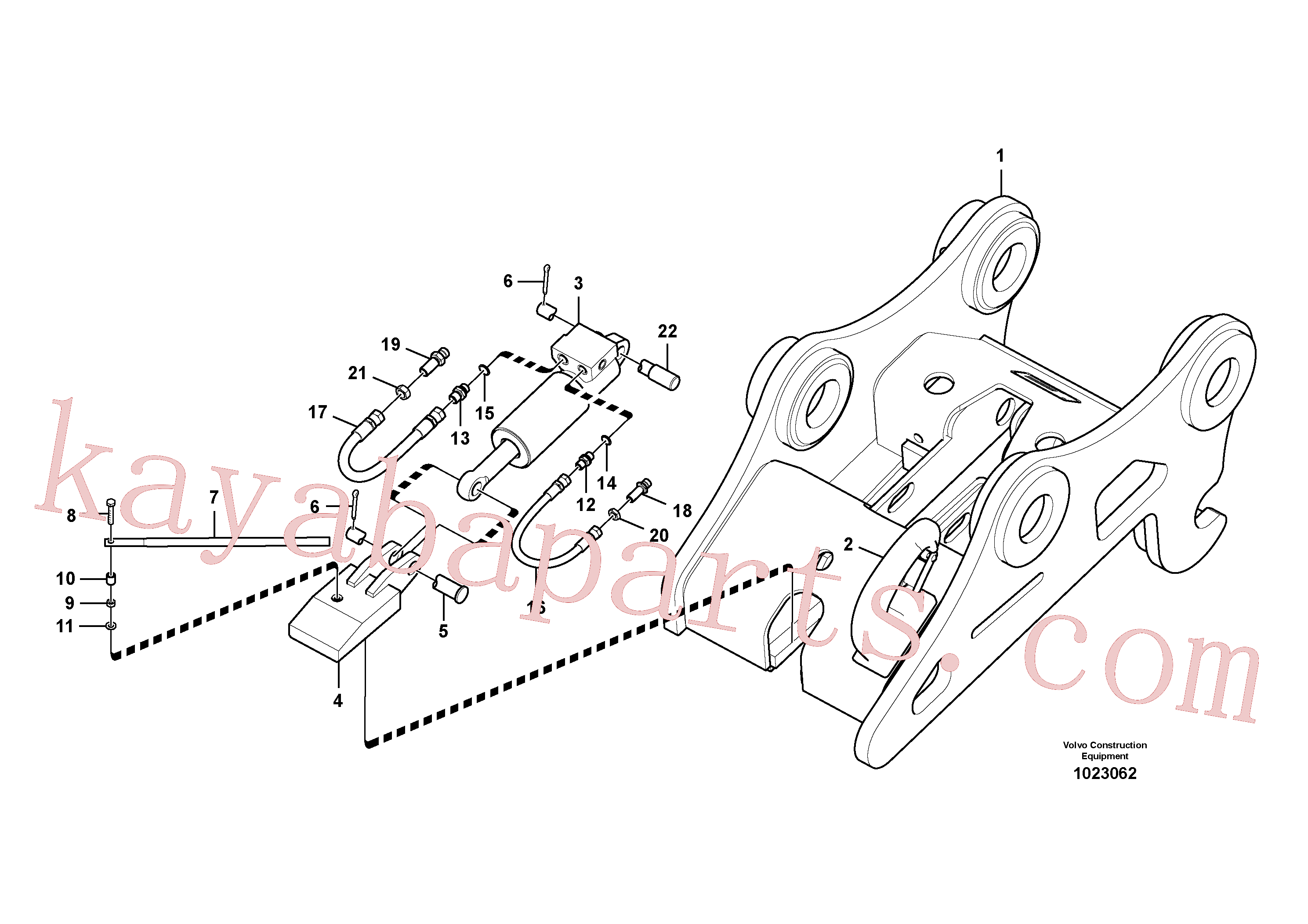 SA9459-05200 for Volvo Attachment bracket, quickfit(1023062 assembly)