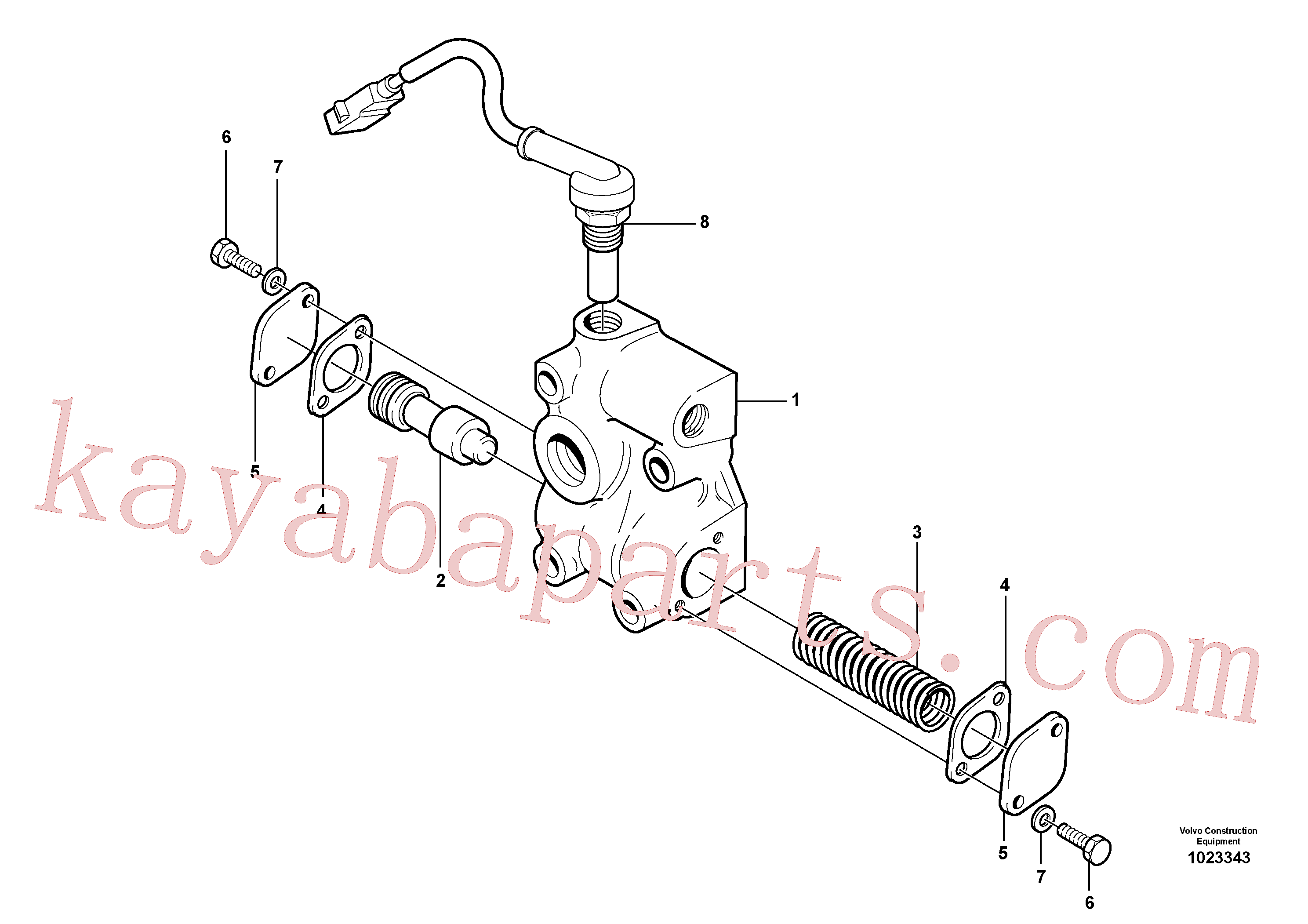 VOE926370 for Volvo Lubricating oil valve(1023343 assembly)