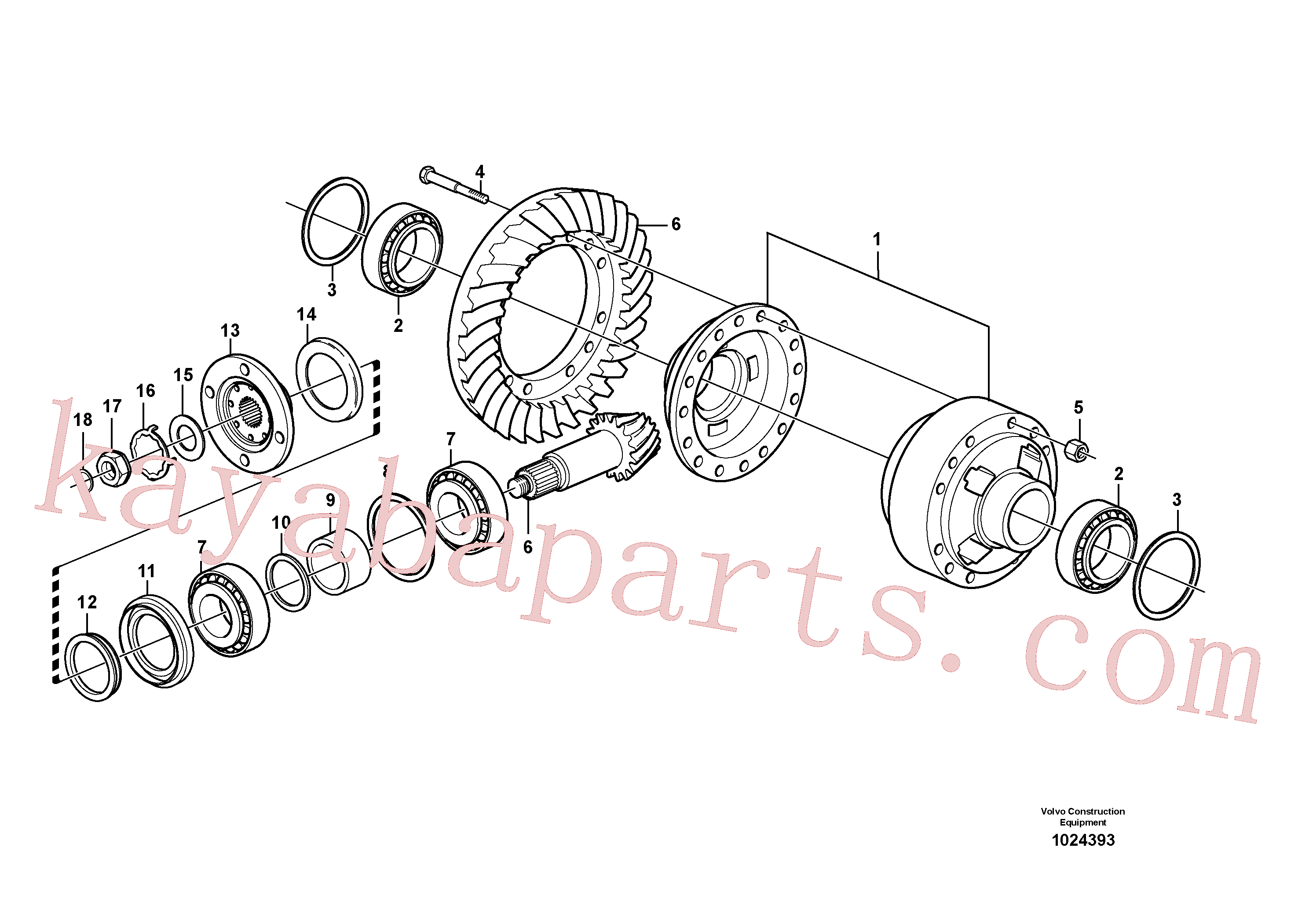 VOE11168058 for Volvo Final drive, rear(1024393 assembly)