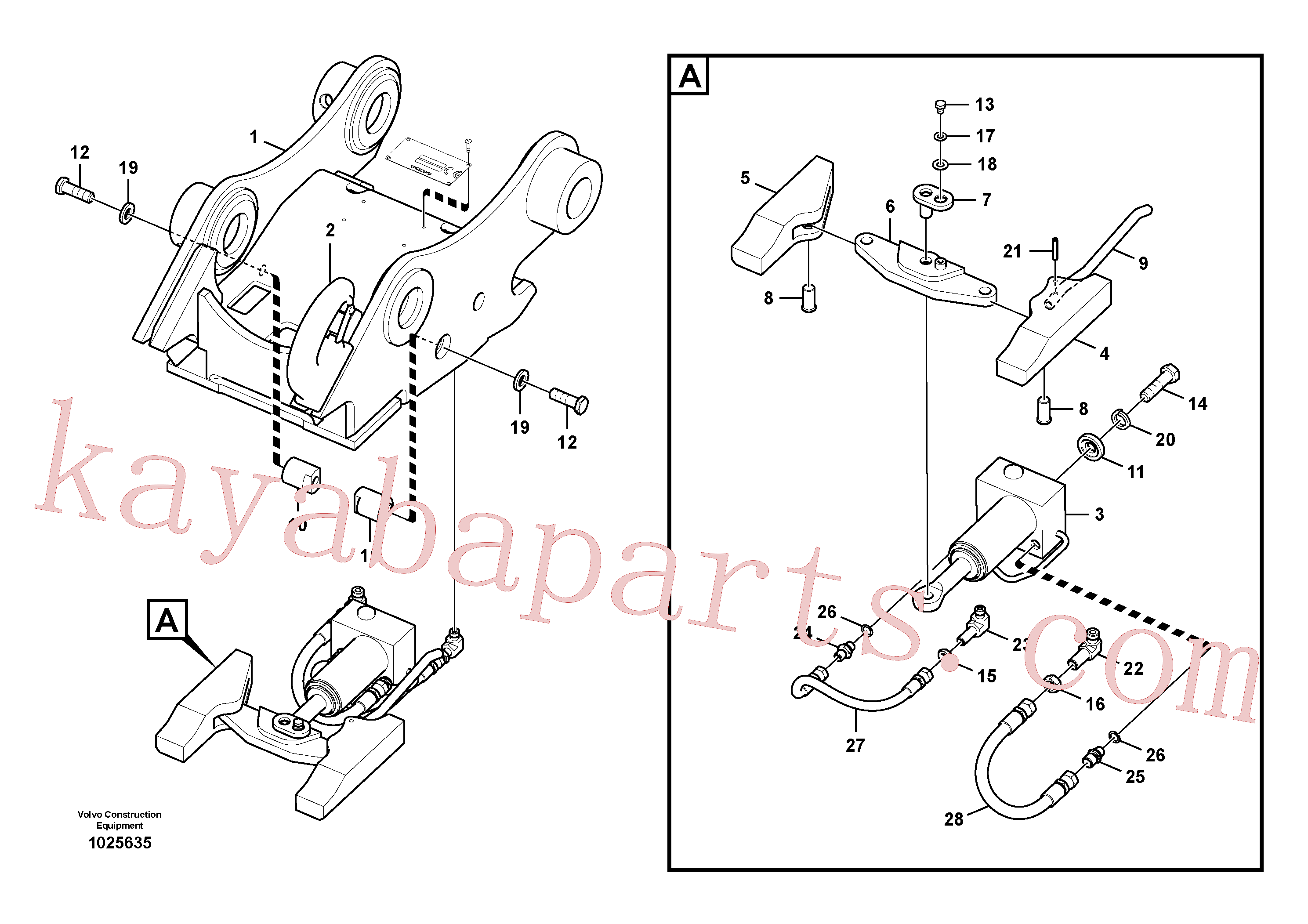 SA1171-75350 for Volvo Attachment bracket, quickfit(1025635 assembly)